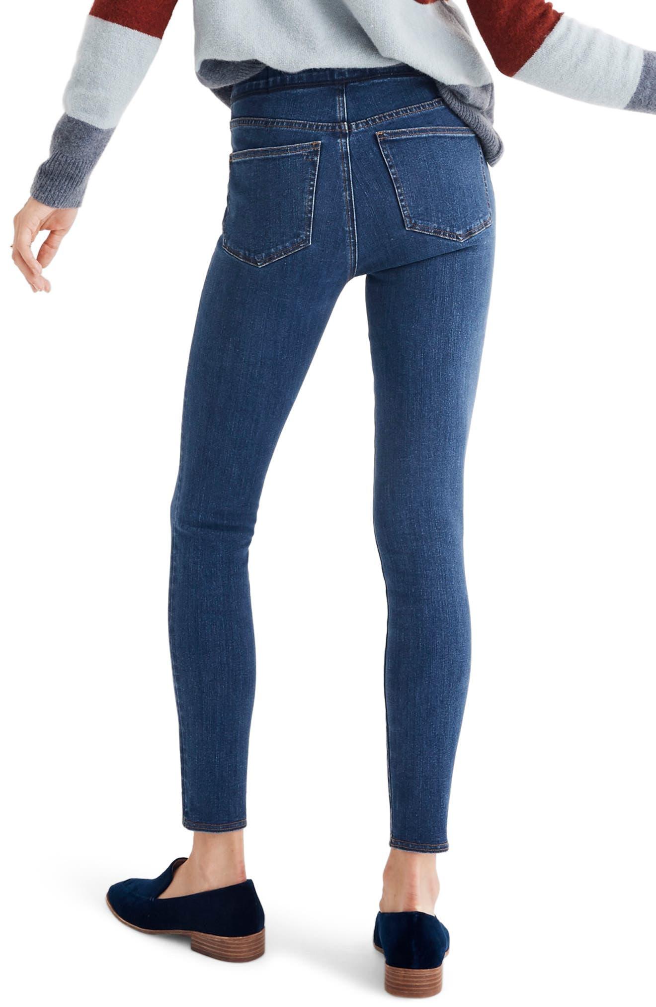 MADEWELL, Pull-On Jeans, Alternate thumbnail 2, color, FREEBURG
