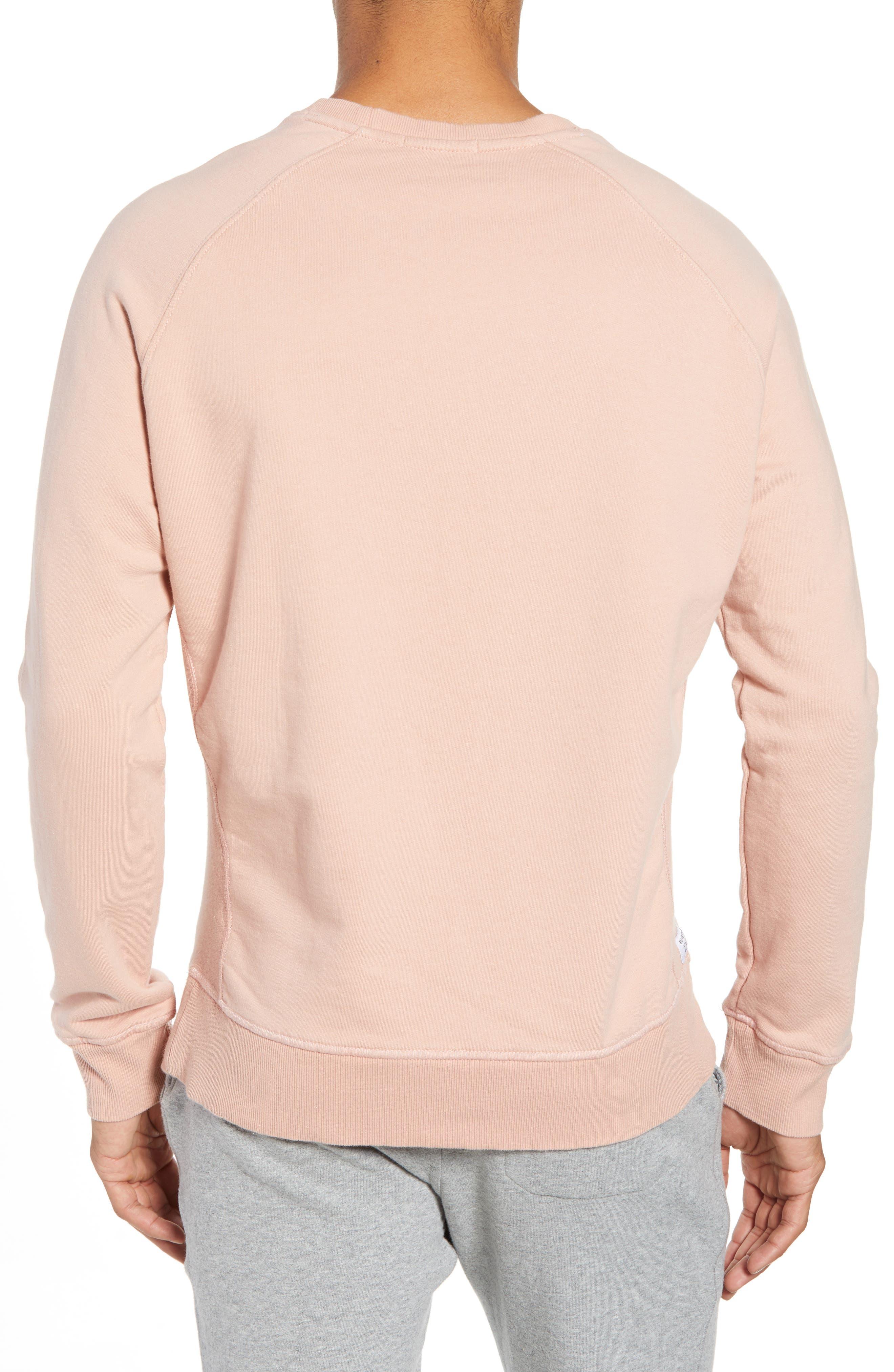RICHER POORER, Crewneck Cotton Sweatshirt, Alternate thumbnail 2, color, BLUSH