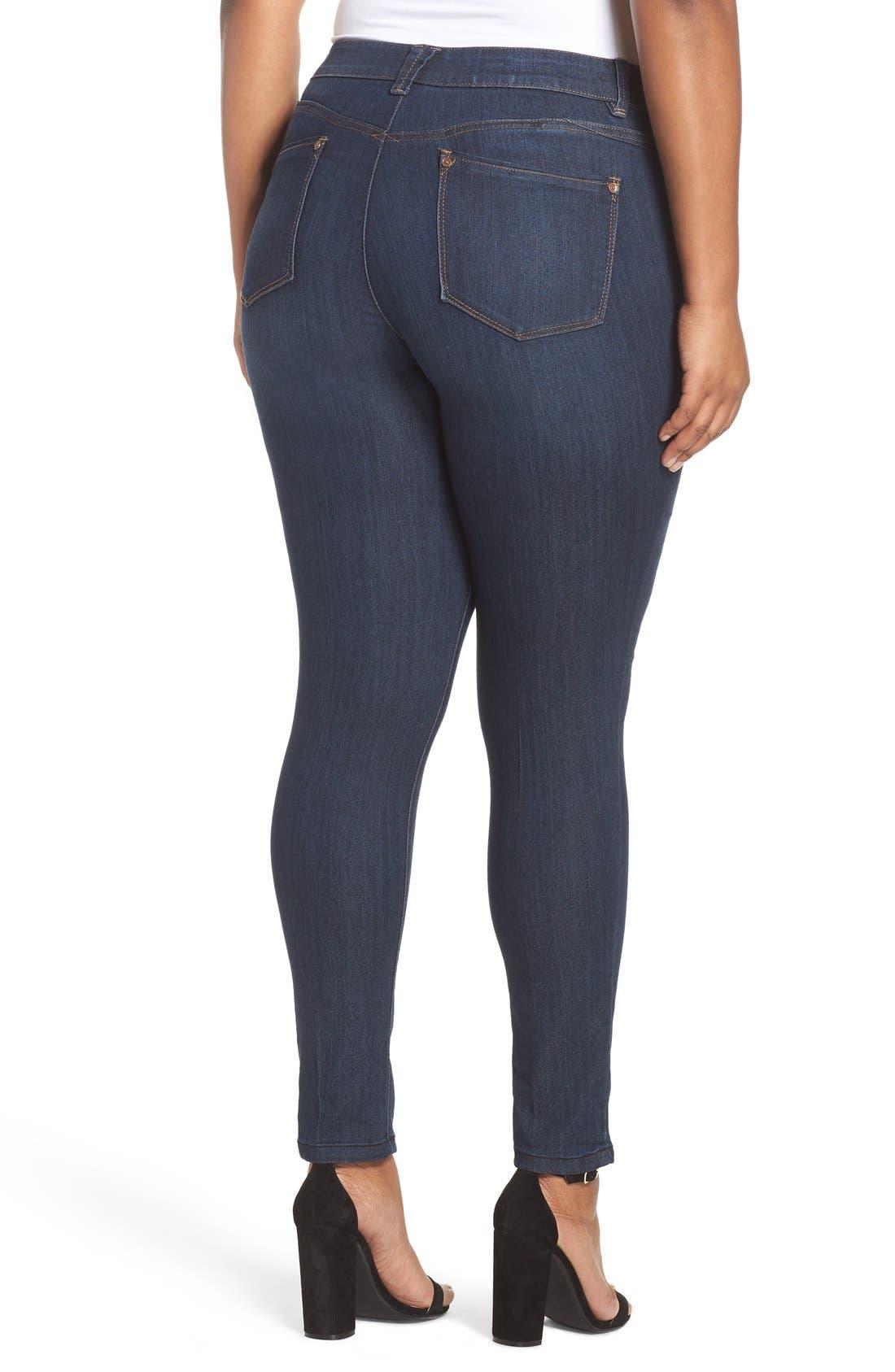 WIT & WISDOM, Ab-solution Stretch Skinny Jeans, Alternate thumbnail 10, color, INDIGO