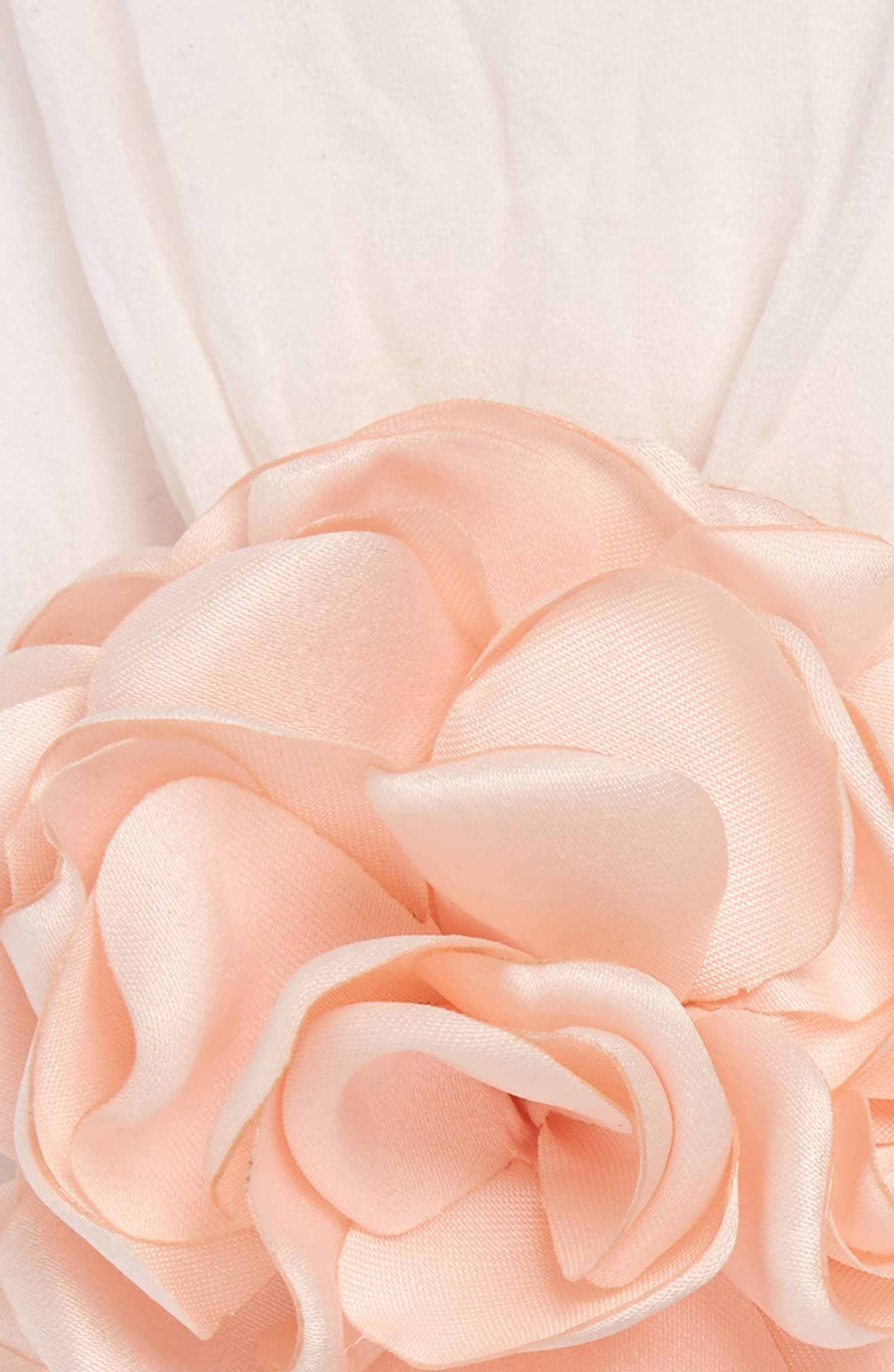 BABY BLING, 2-Pack Flower Head Wraps, Alternate thumbnail 2, color, BALLET PINK/ IVORY