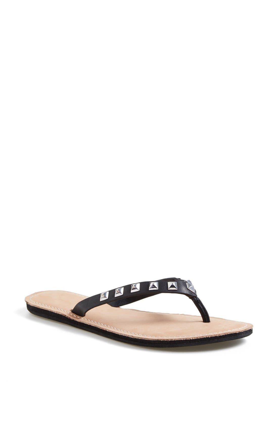 REBECCA MINKOFF 'Fiona' Thong Sandal, Main, color, 001