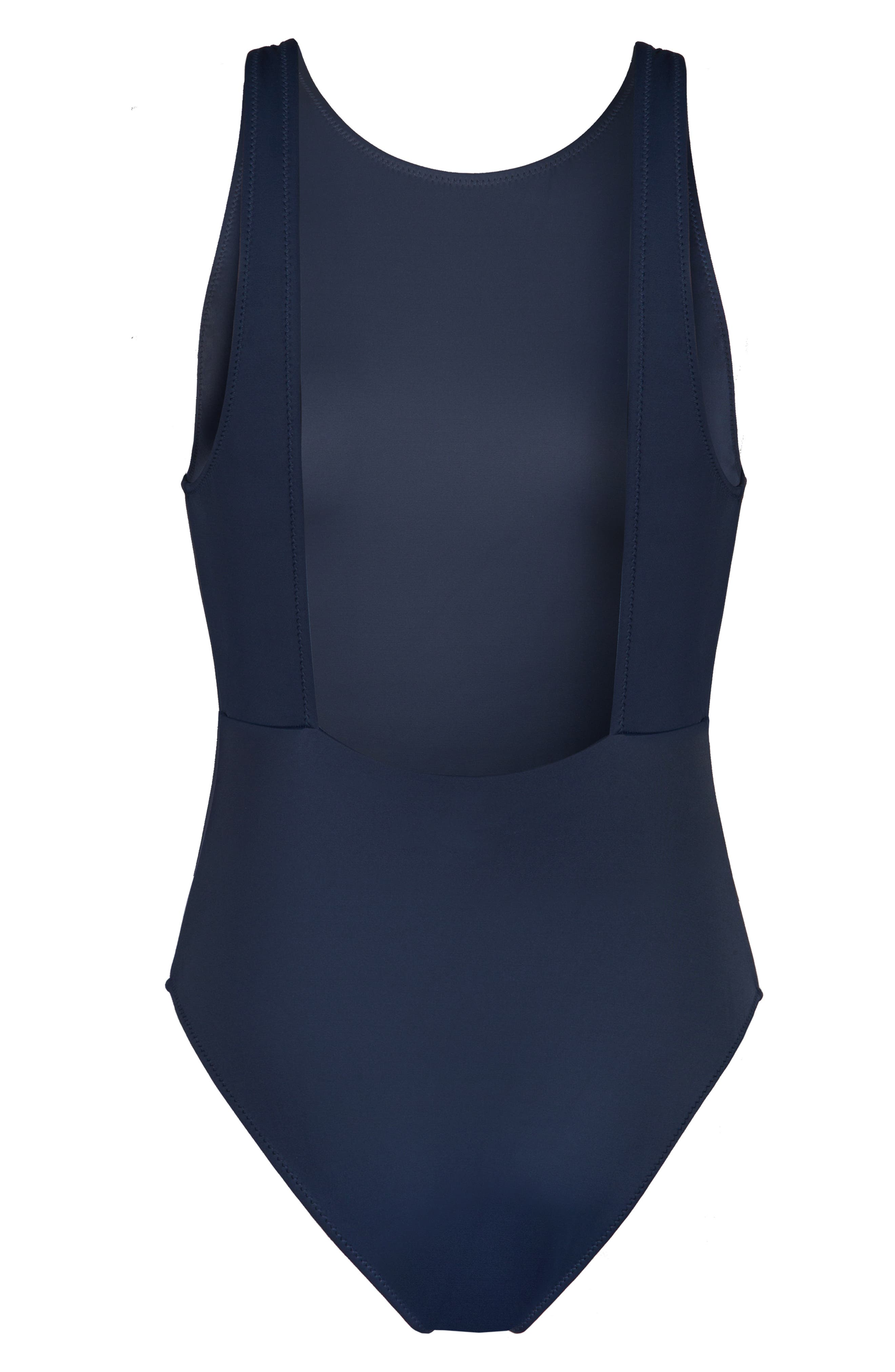 LIVELY, The Highneck One-Piece Swimsuit, Alternate thumbnail 4, color, LIVELY NAVY
