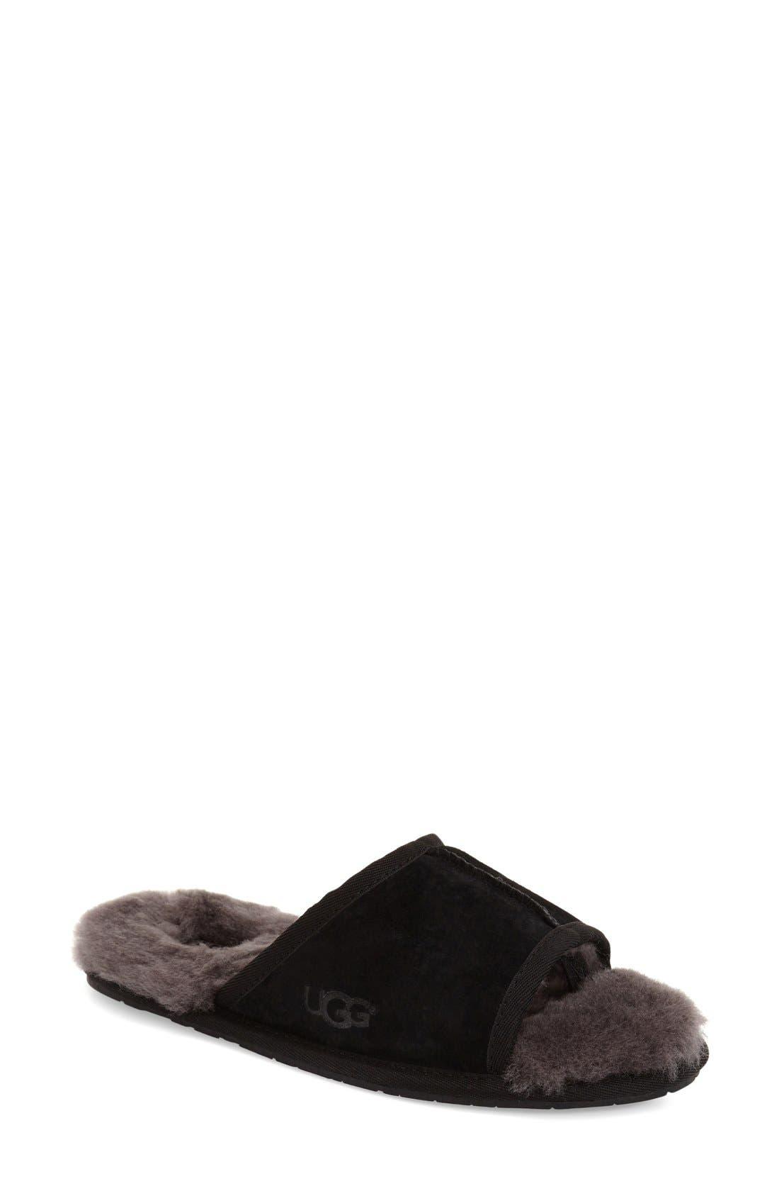 UGG<SUP>®</SUP> 'Mellie' Slide Slipper, Main, color, 001