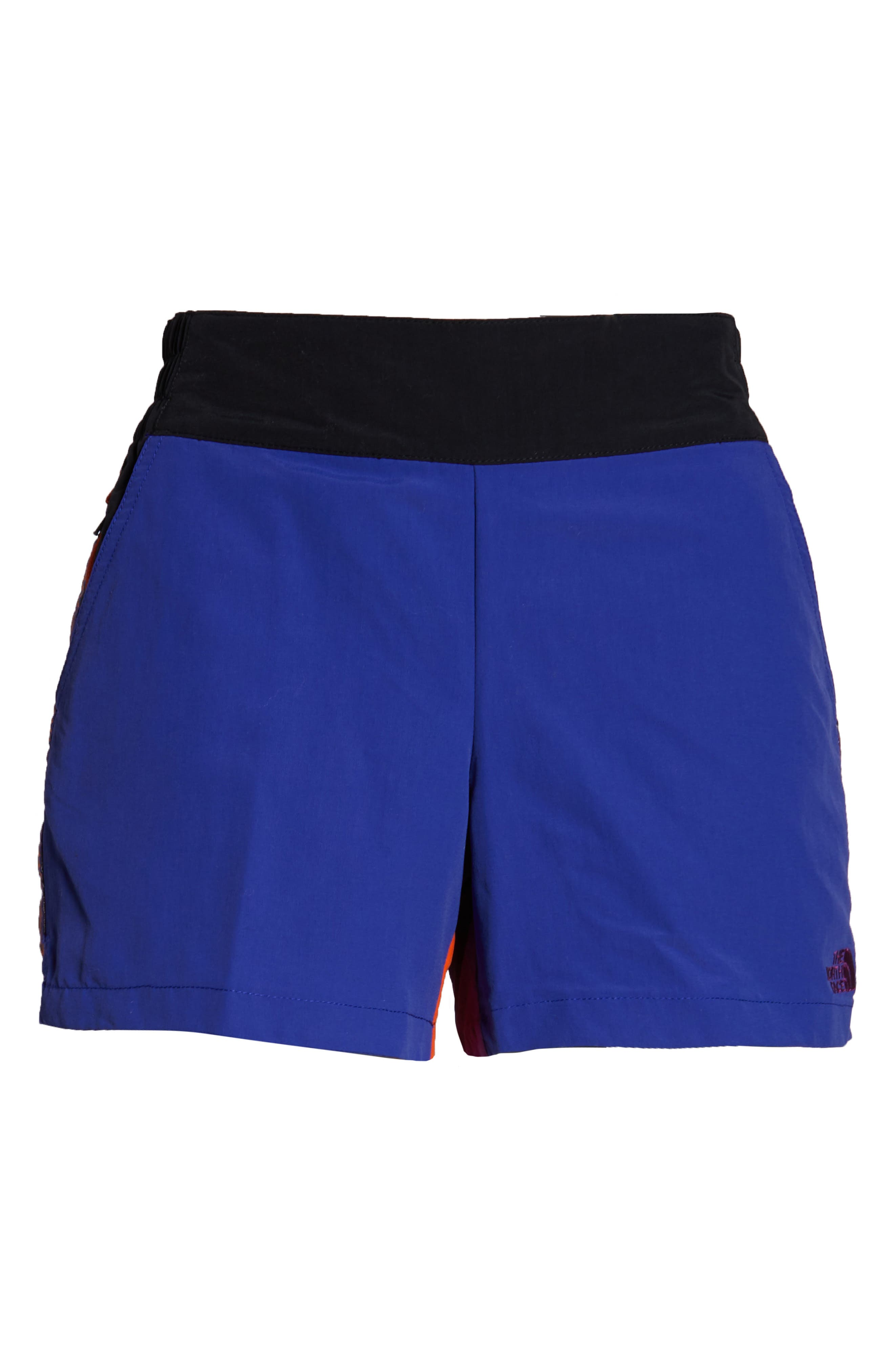 THE NORTH FACE, 92 Rage Lounger Shorts, Alternate thumbnail 3, color, AZTEC BLUE RAGE COMBO