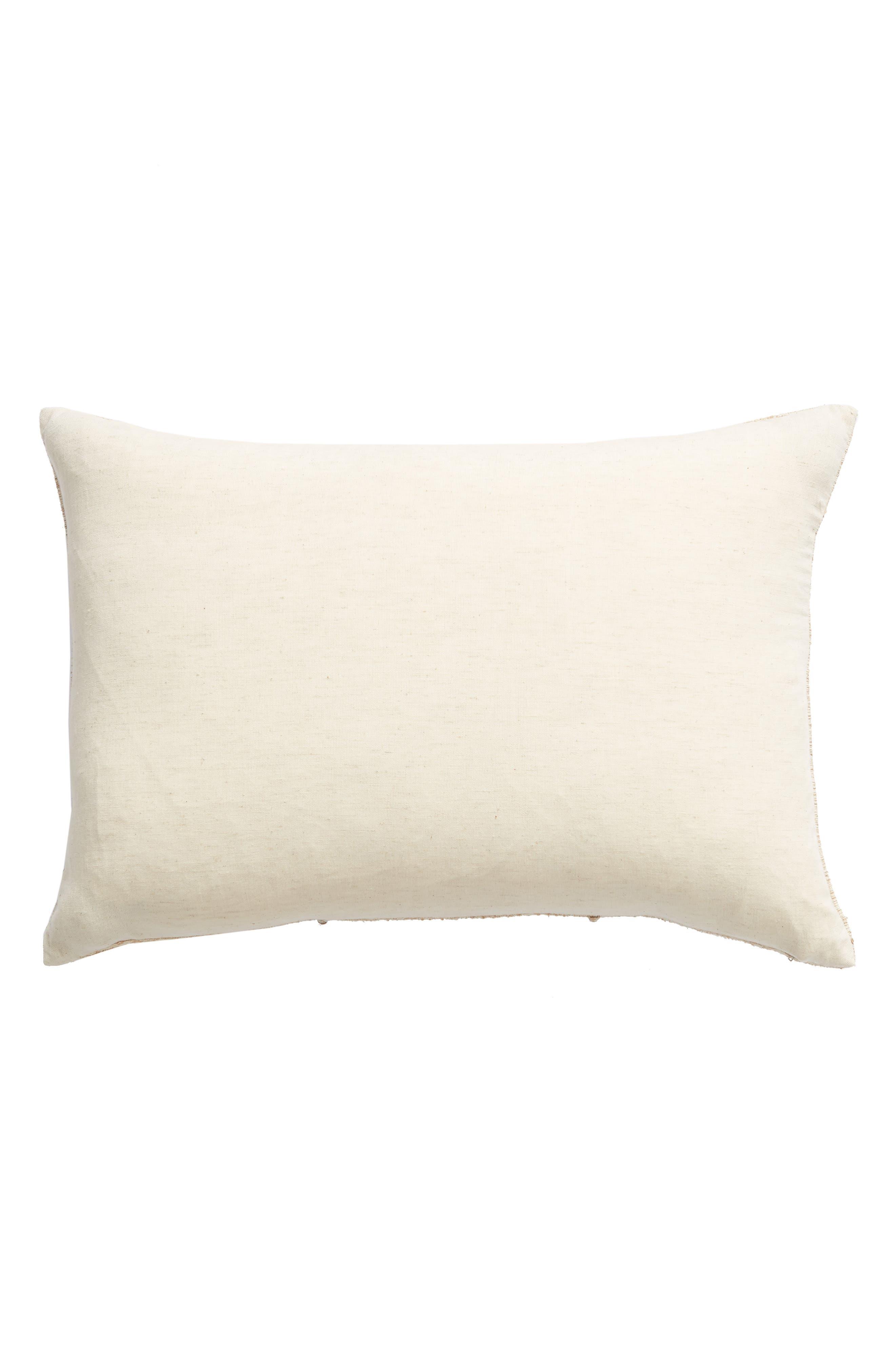 TREASURE & BOND, Pieced Cotton & Silk Accent Pillow, Alternate thumbnail 2, color, NATURAL MULTI