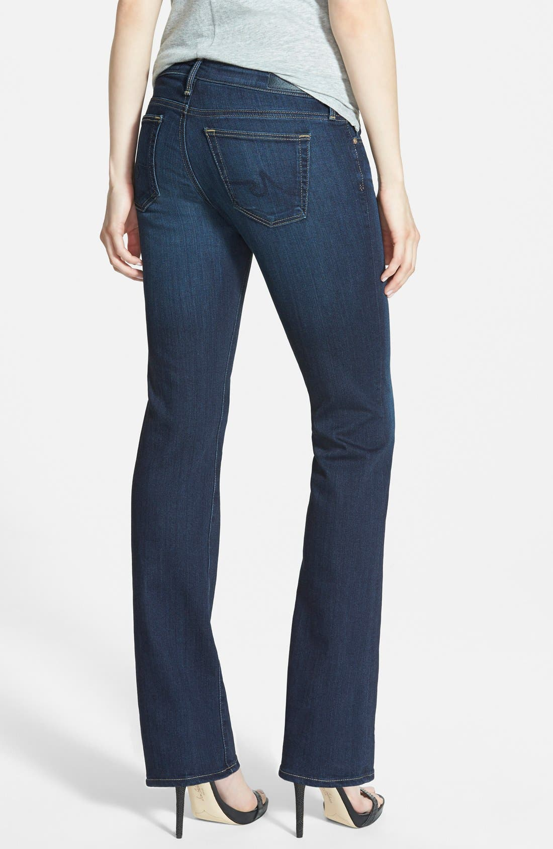 AG, 'The Angelina' Bootcut Jeans, Alternate thumbnail 2, color, 400