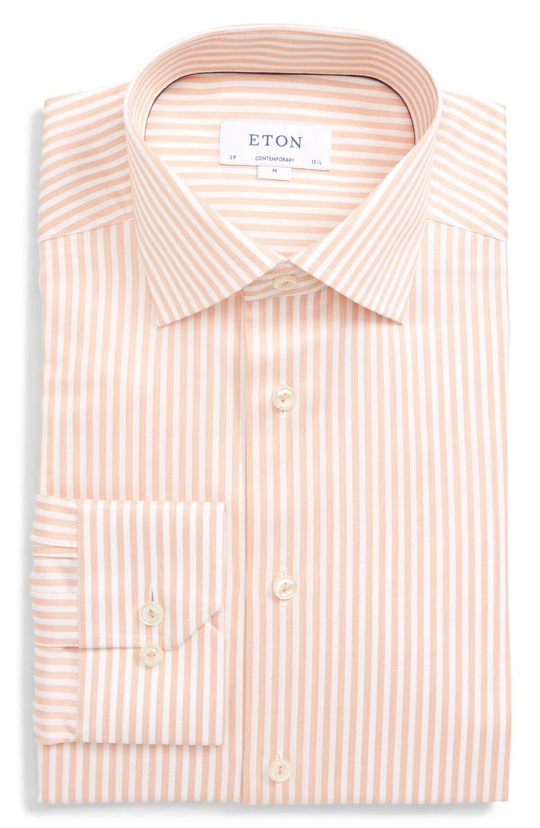 Eton Dresses CONTEMPORARY FIT STRIPE DRESS SHIRT