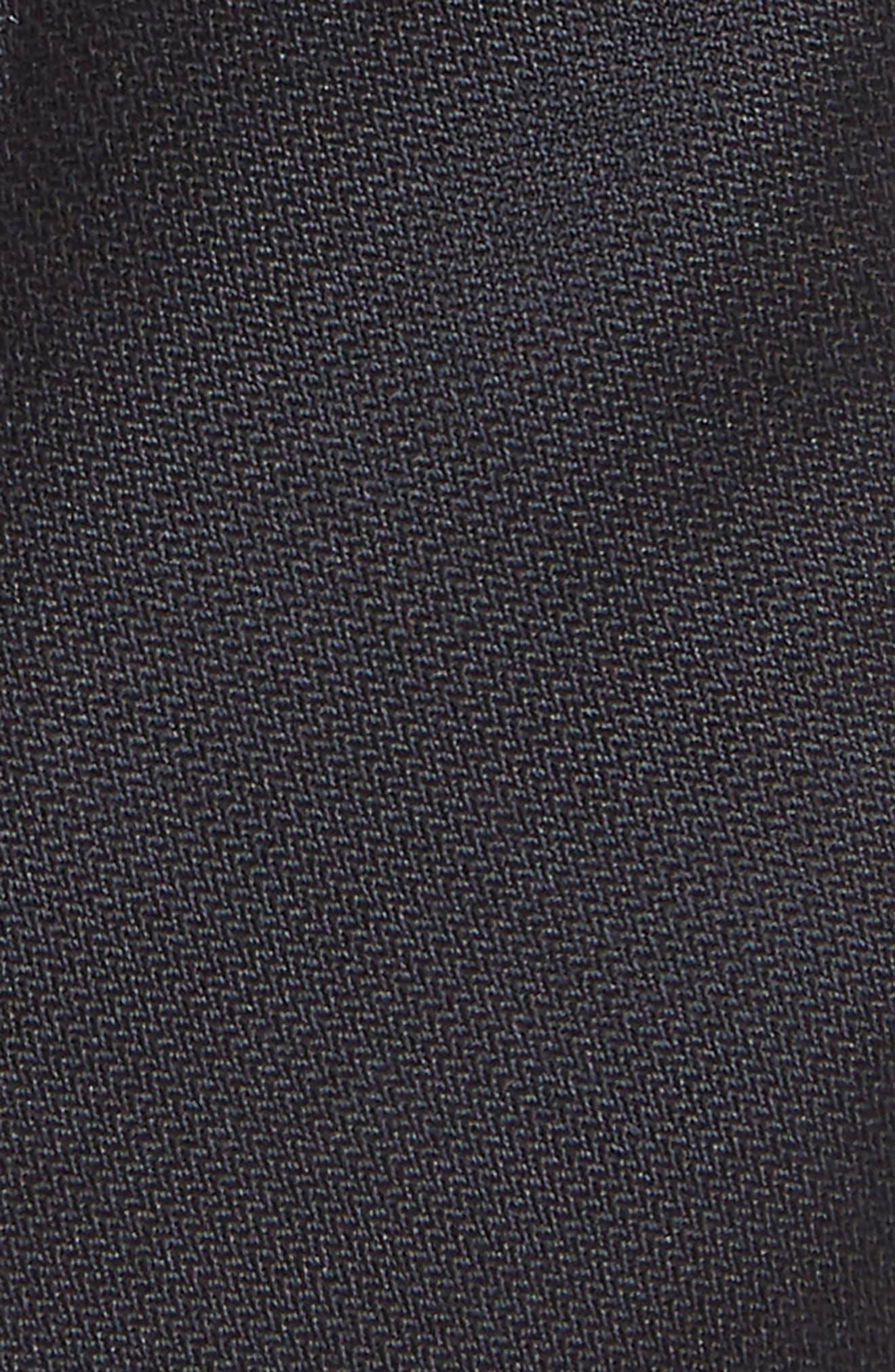 NORDSTROM, Levi Solid Silk Tie, Alternate thumbnail 2, color, BLACK