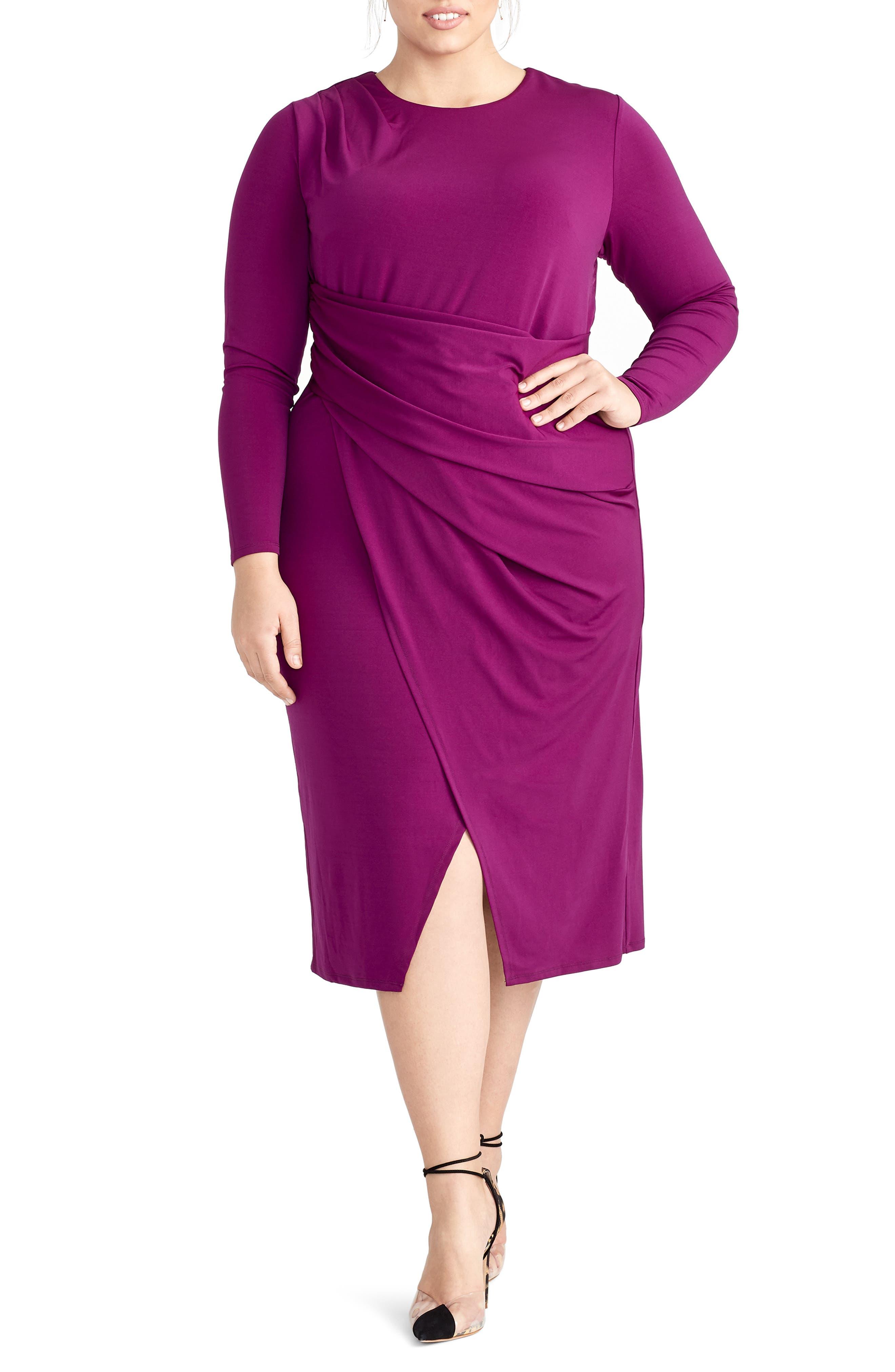Plus Size Rachel Rachel Roy Banded Waist Jersey Dress, Purple