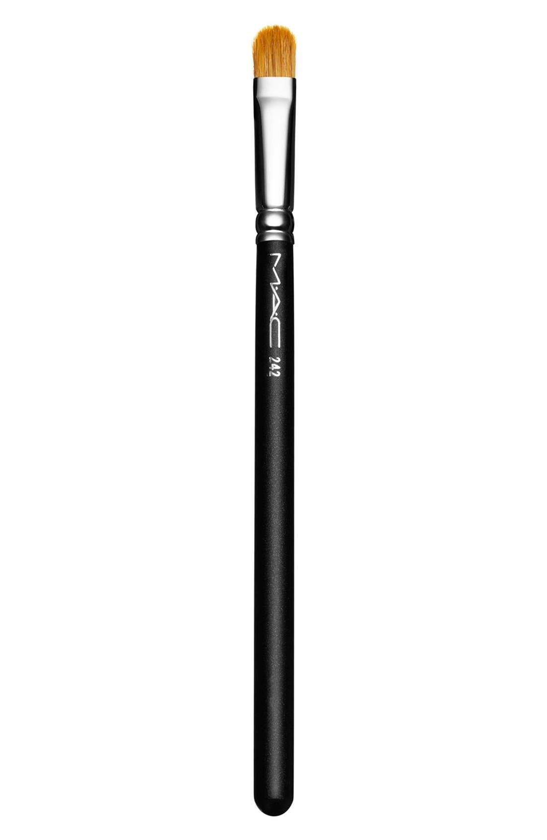 MAC COSMETICS, MAC 242 Shader Brush, Main thumbnail 1, color, 000