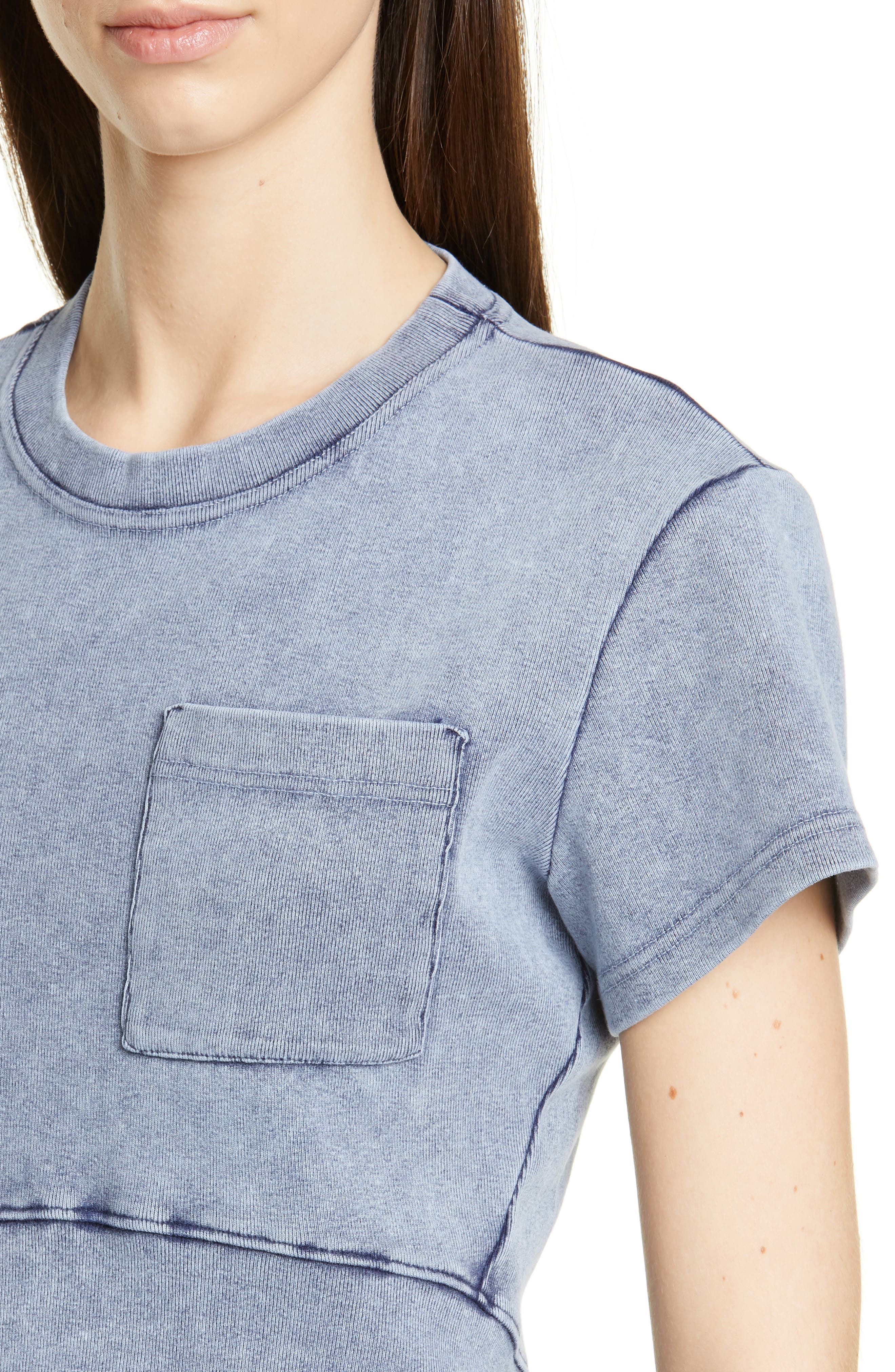 PROENZA SCHOULER, Washed Jersey Top, Alternate thumbnail 4, color, WASHED ACID