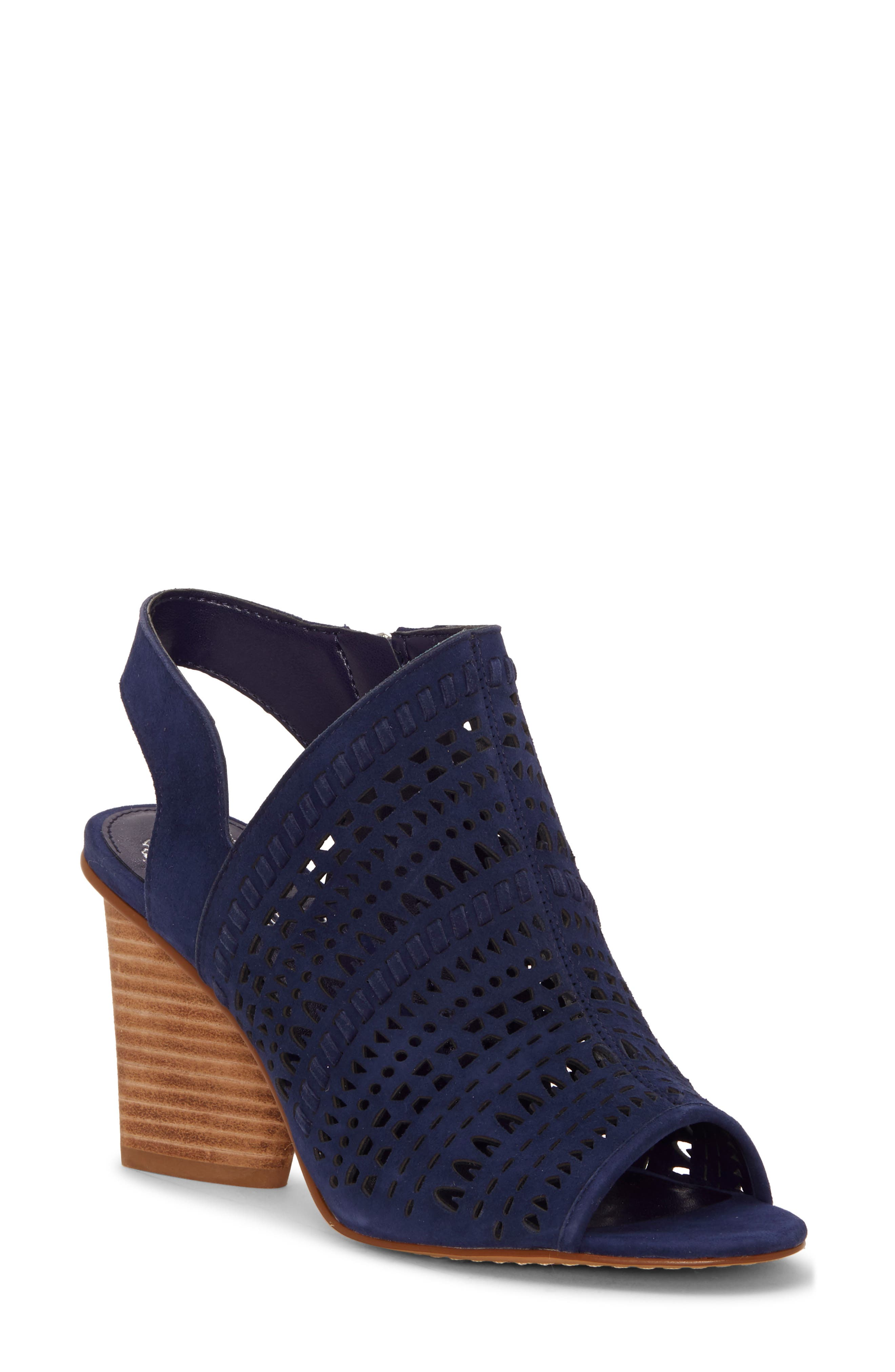 Vince Camuto Derechie Perforated Shield Sandal, Blue