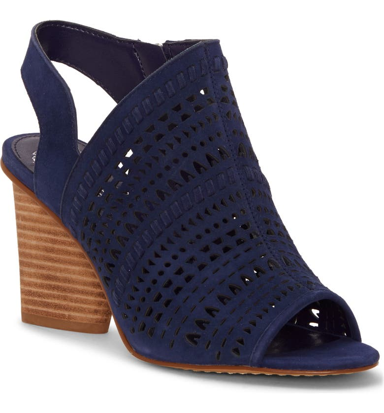 96bf2ca2352 Vince Camuto Derechie Perforated Shield Sandal In New Blue Suede ...