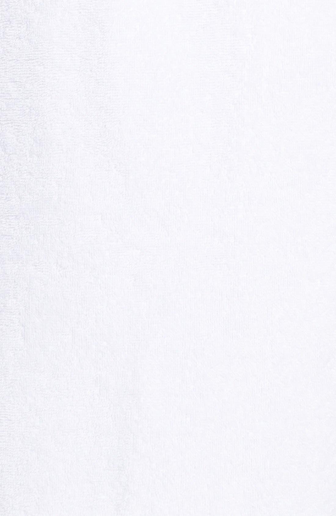 NORDSTROM LINGERIE, Terry Robe, Alternate thumbnail 8, color, WHITE