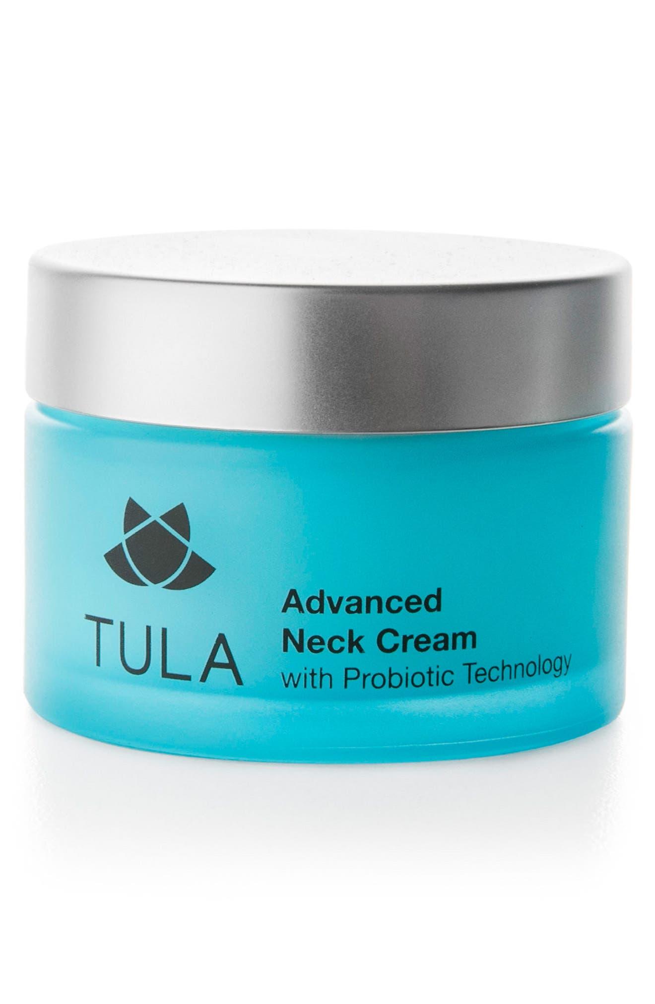 TULA PROBIOTIC SKINCARE Advanced Neck Cream, Main, color, NO COLOR