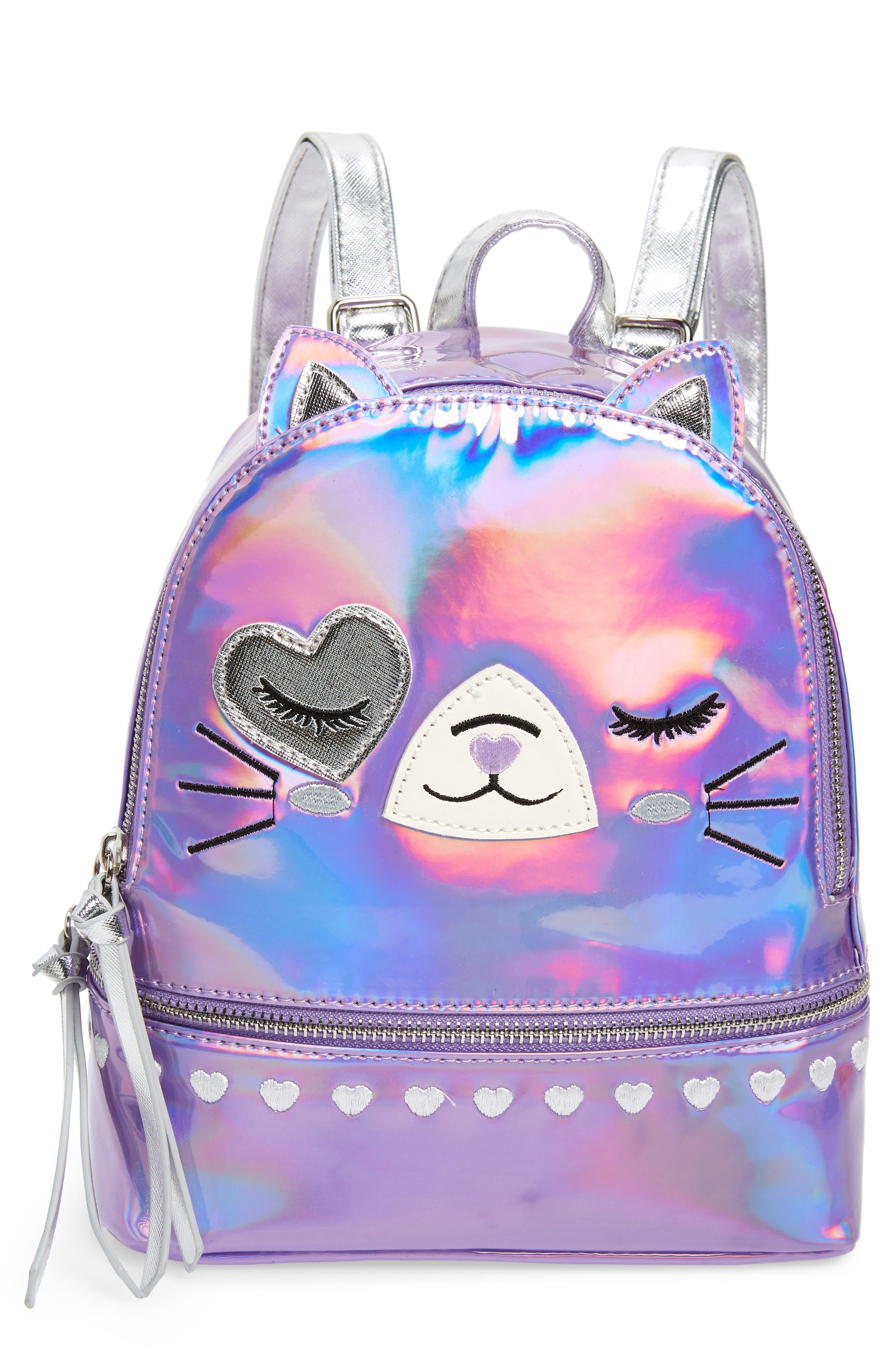 Girls Under One Sky Cat Backpack  Pink