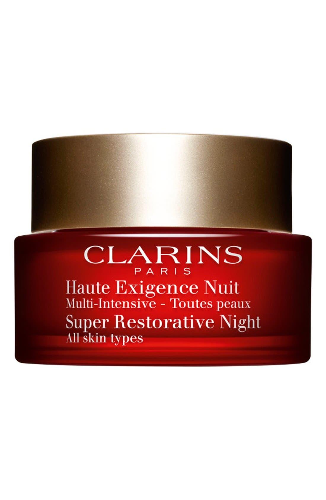 CLARINS, Super Restorative Night Wear Cream, Main thumbnail 1, color, NO COLOR