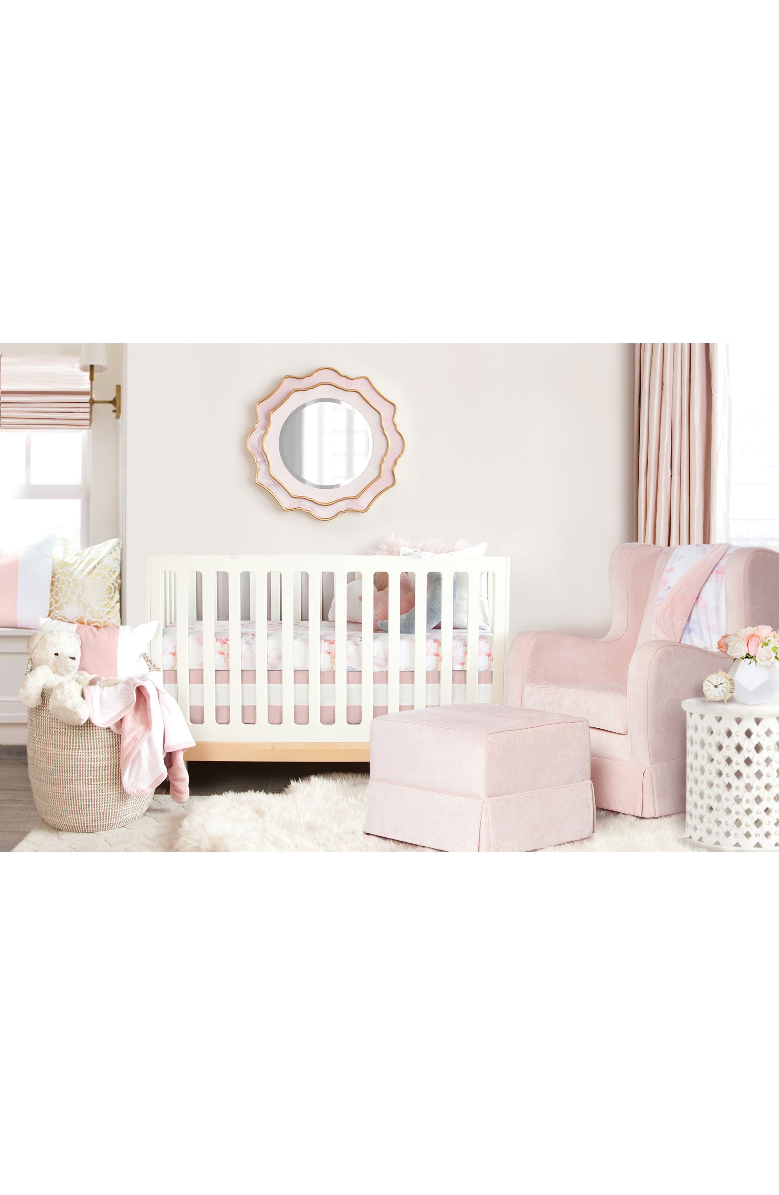OILO, Prim Cuddle Blanket, Crib Skirt & Crib Sheet Set, Alternate thumbnail 7, color, PRIM