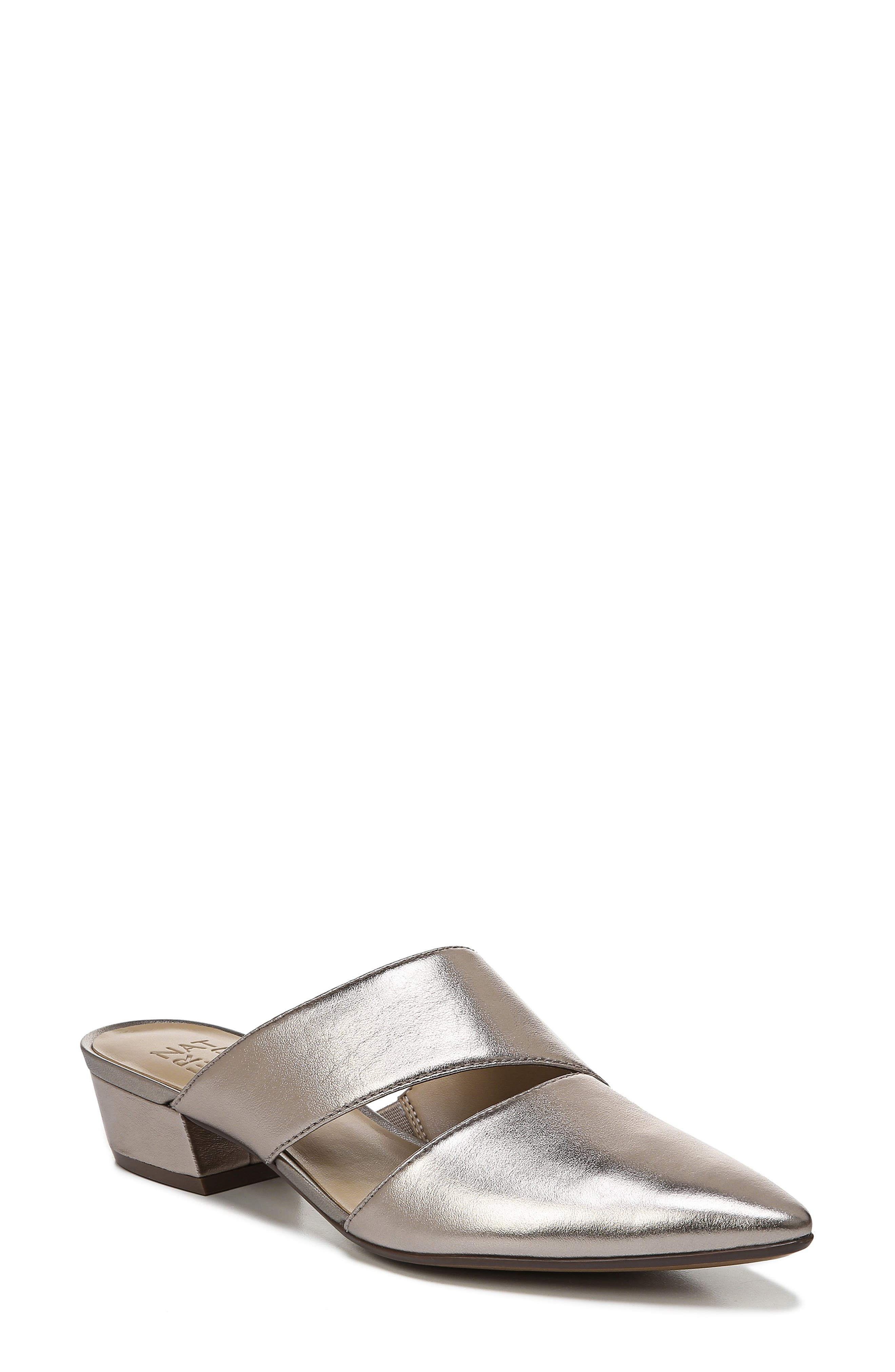 NATURALIZER Bev Pointy Toe Mule, Main, color, LIGHT BRONZE METALLIC LEATHER