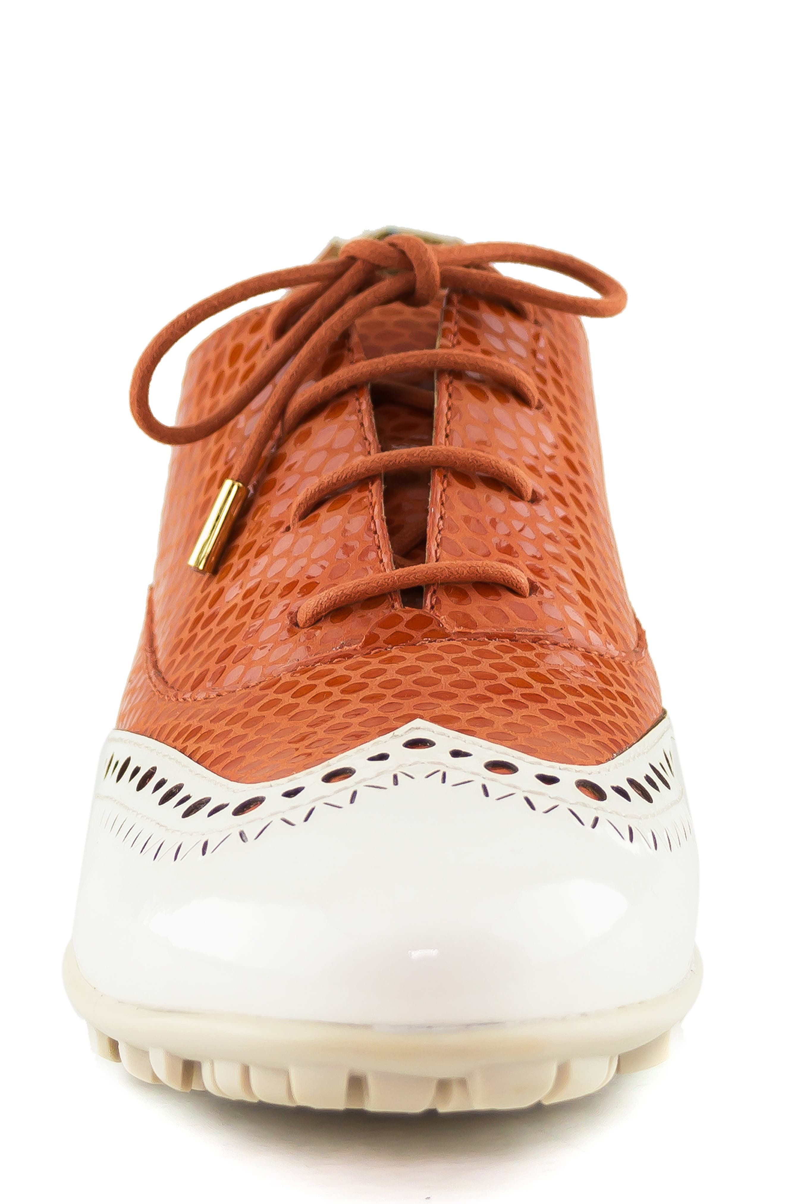 MARC JOSEPH NEW YORK, NYC Golf Loafer, Alternate thumbnail 4, color, CORAL SNAKE PRINT LEATHER