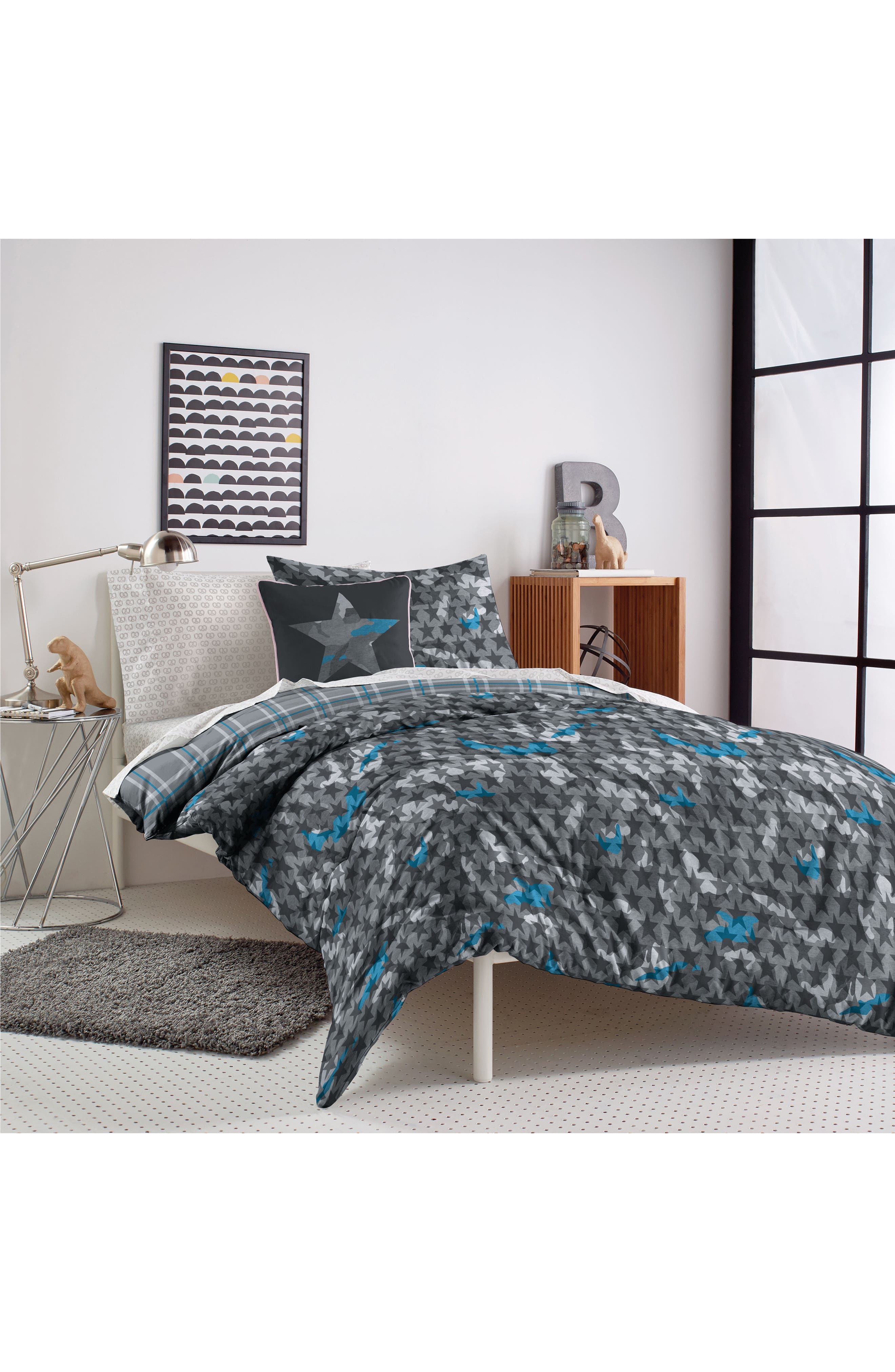 DKNY, Camo Comforter & Sham Set, Alternate thumbnail 6, color, 020
