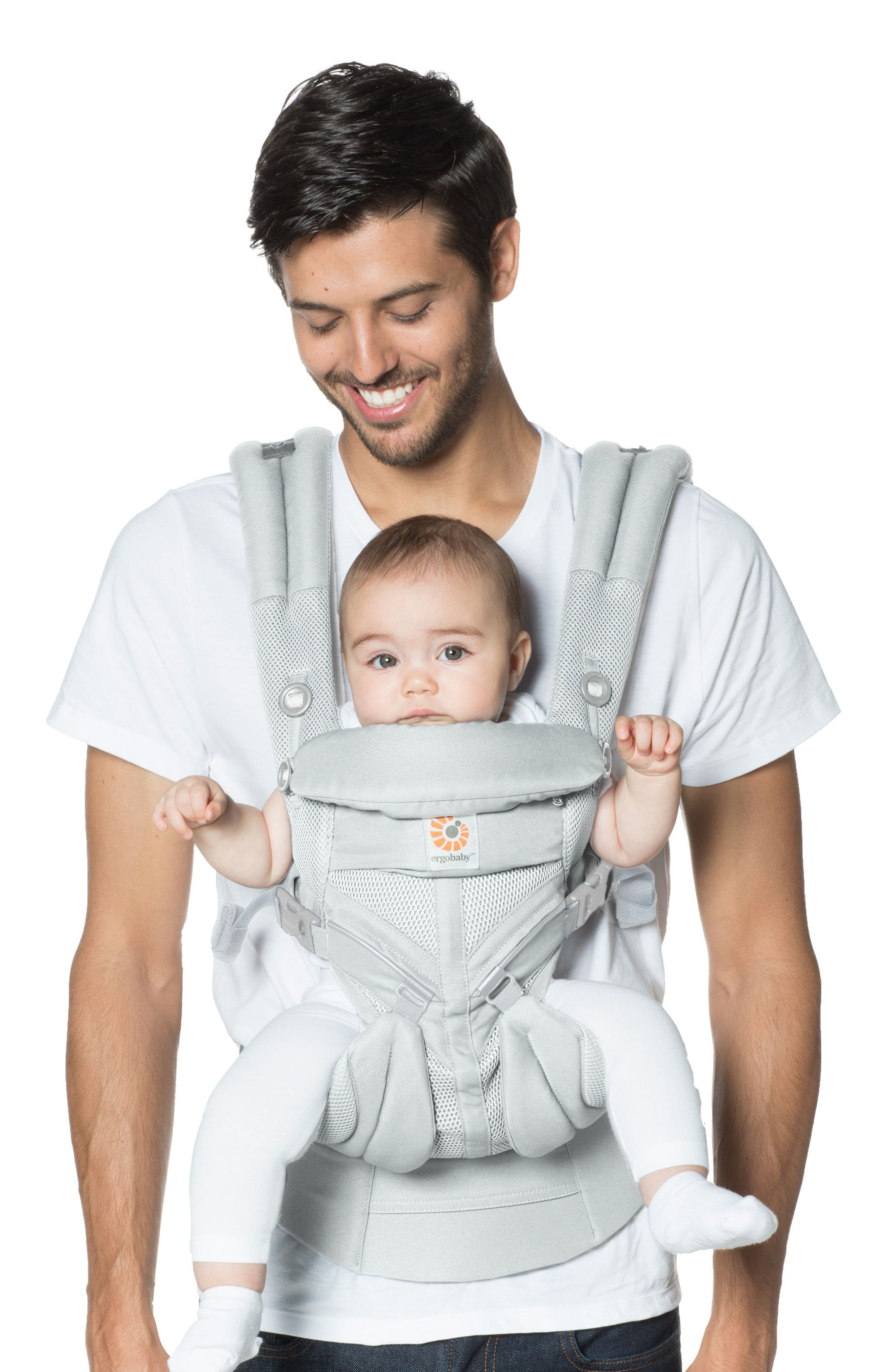 ERGOBABY, Omni 360 - Cool Air Baby Carrier, Alternate thumbnail 3, color, PEARL GREY