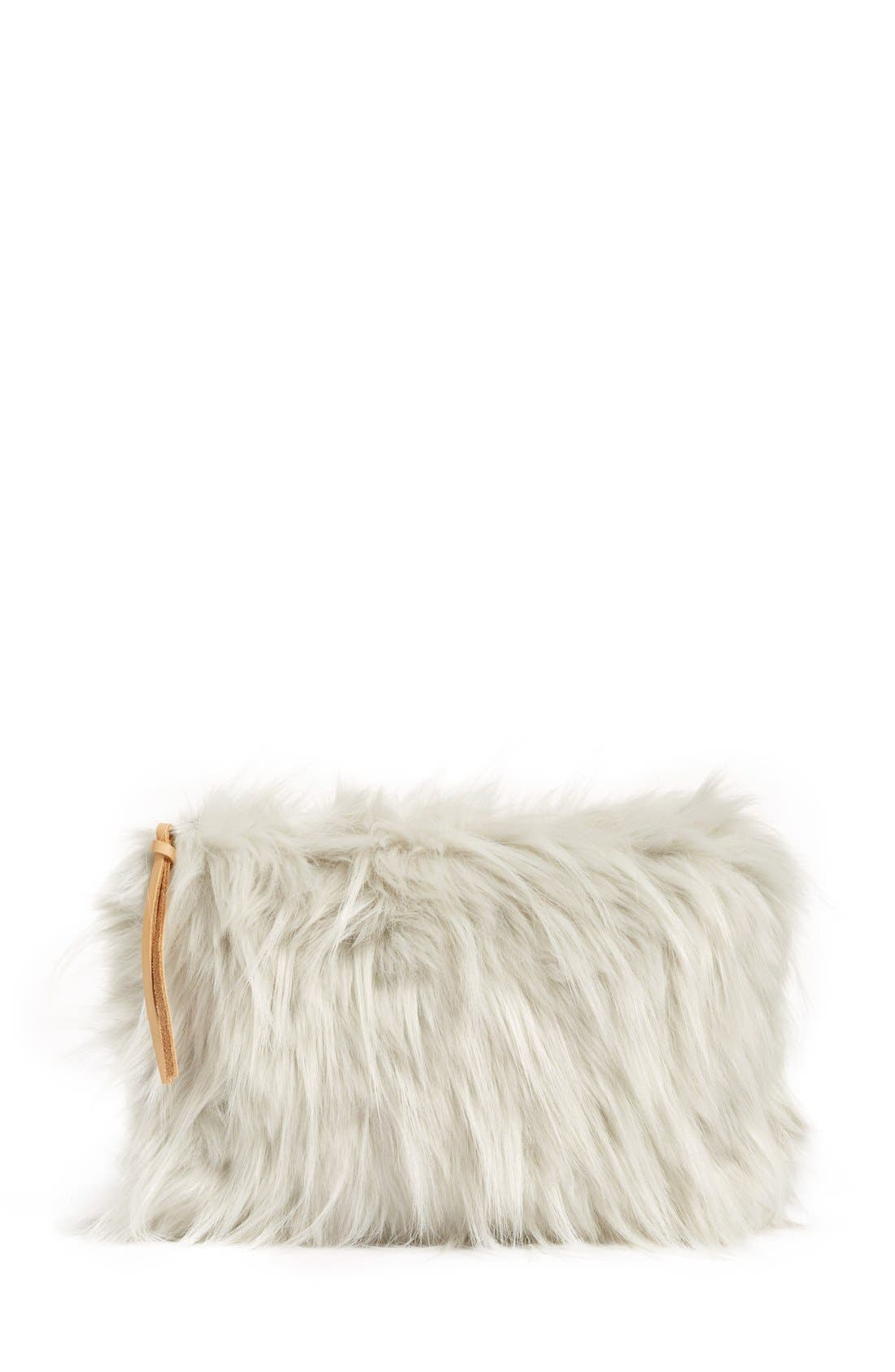 NORDSTROM AT HOME, Cuddle Up Faux Fur Pouch, Main thumbnail 1, color, 030