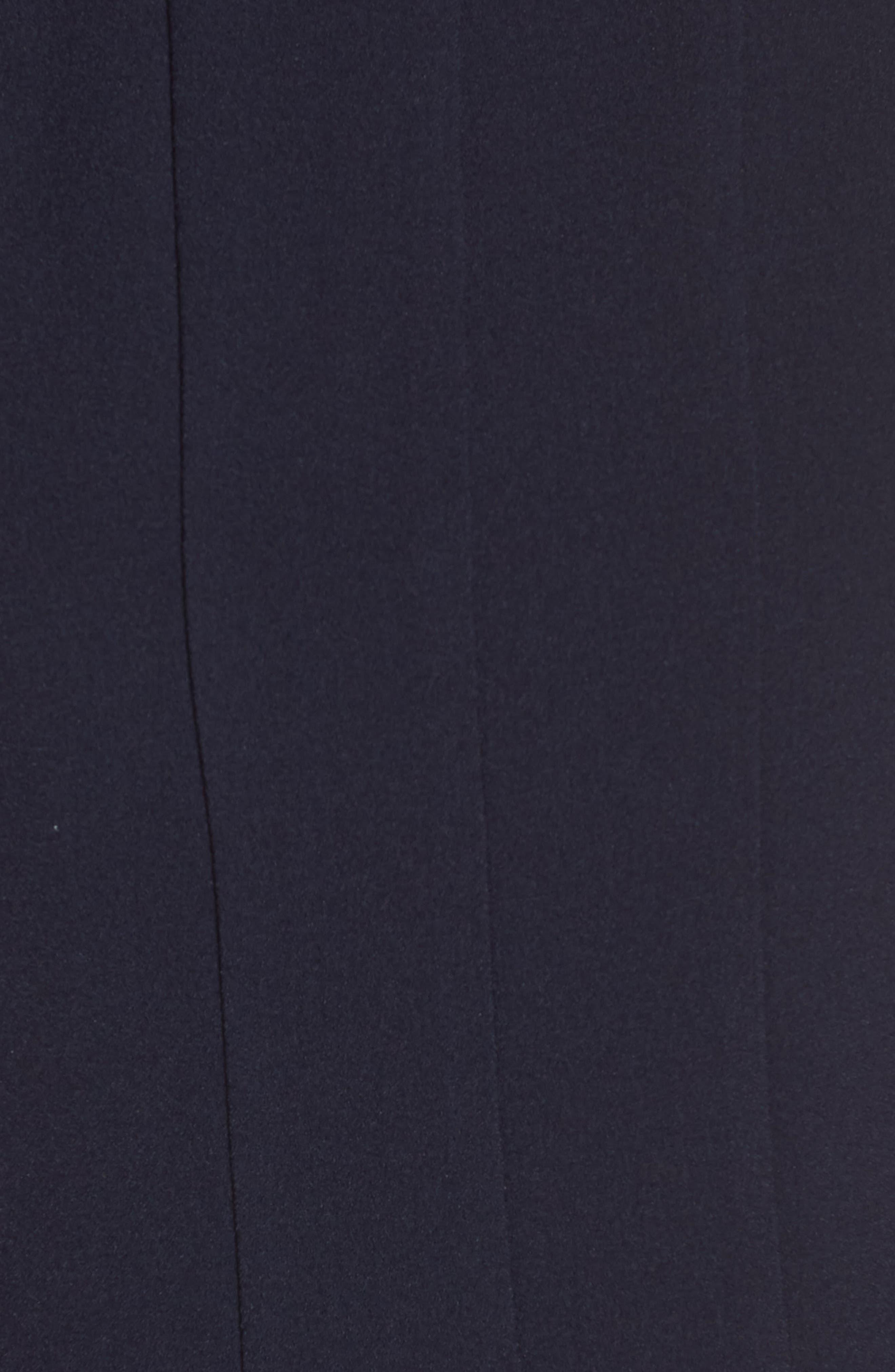 JULIA JORDAN, Sleeveless Pleat Panel Fit & Flare Dress, Alternate thumbnail 6, color, NAVY