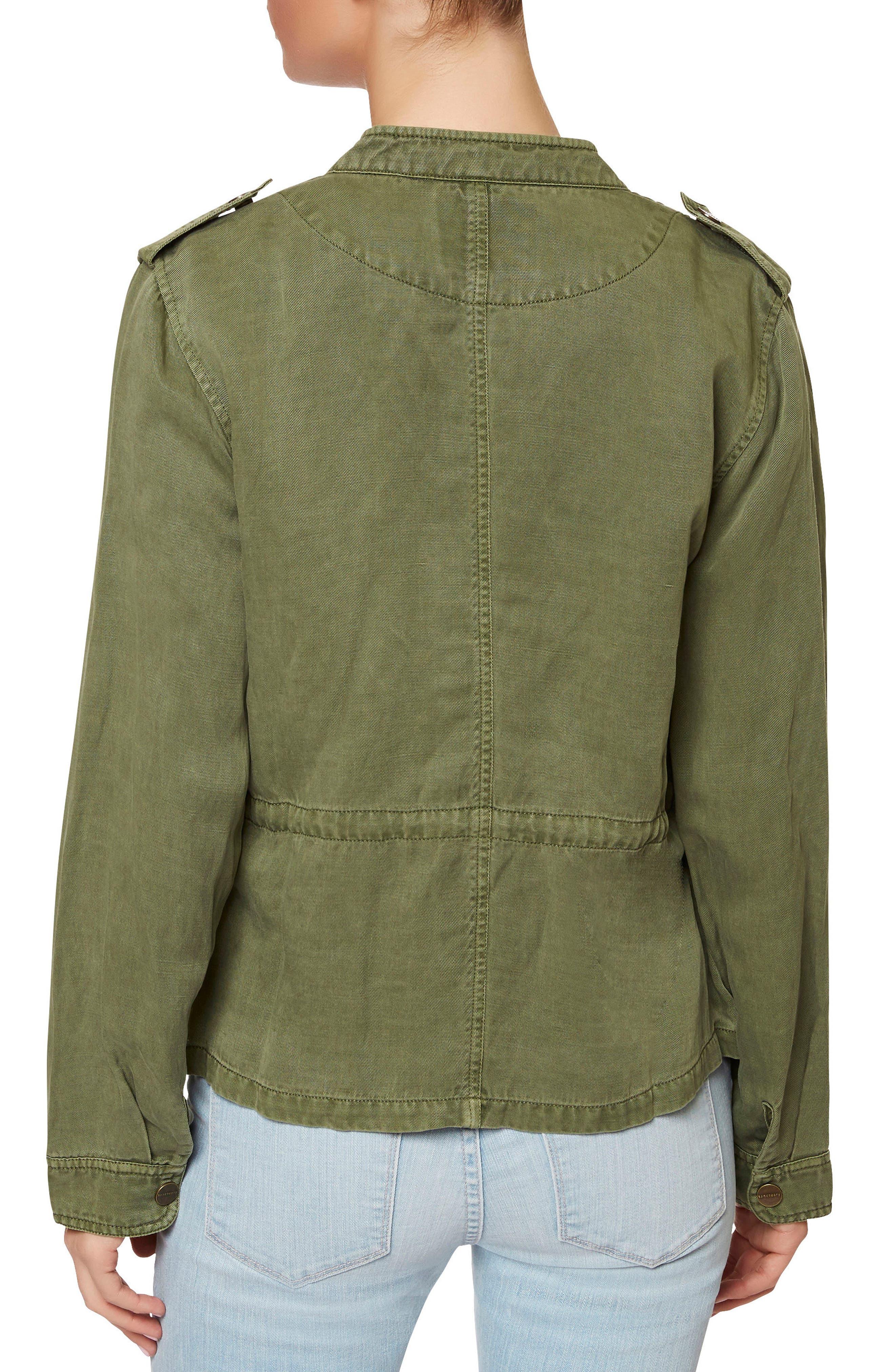 SANCTUARY, Marni Twill Utility Jacket, Alternate thumbnail 2, color, 300
