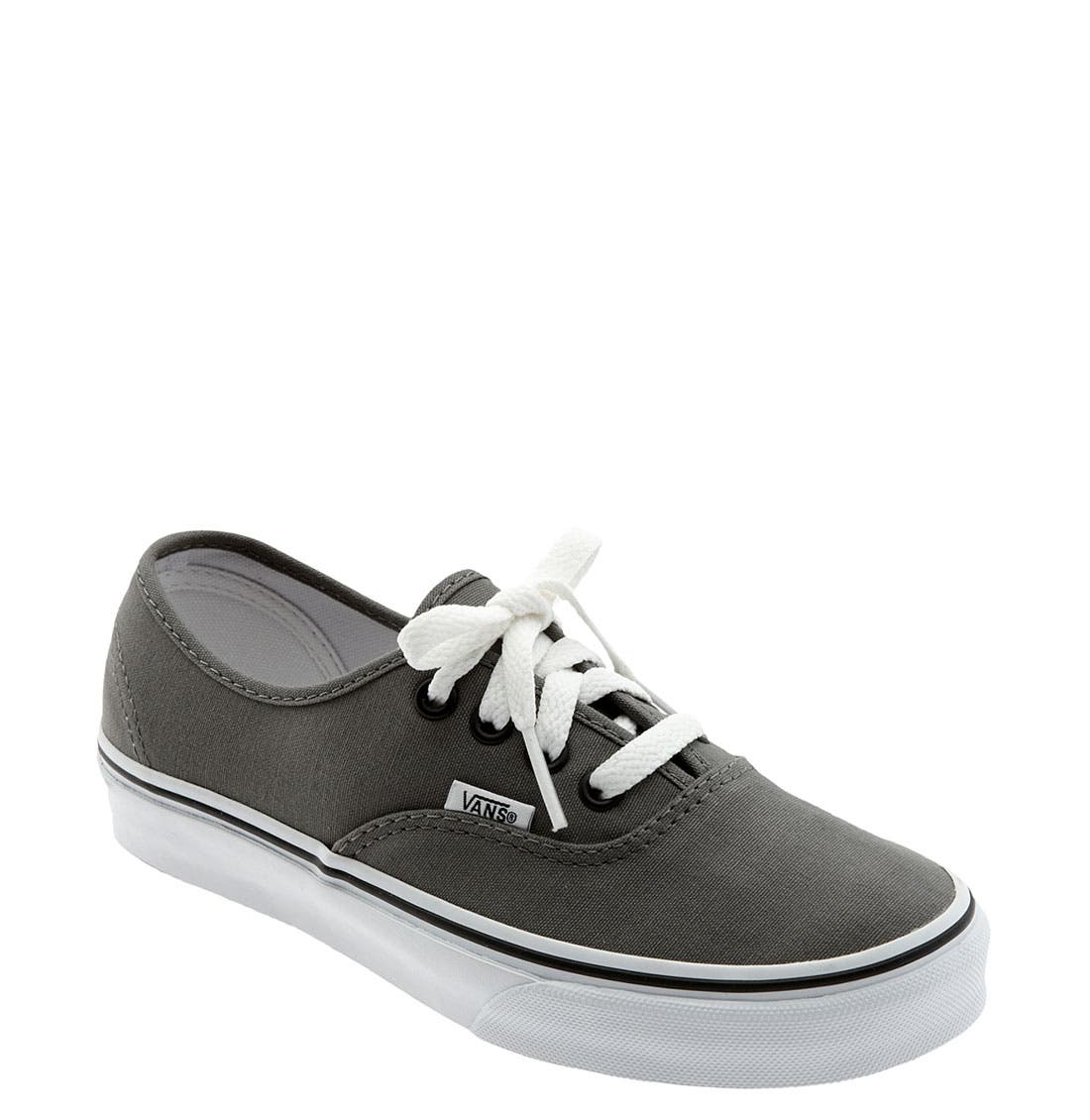 VANS, 'Authentic' Sneaker, Main thumbnail 1, color, PEWTER/BLACK