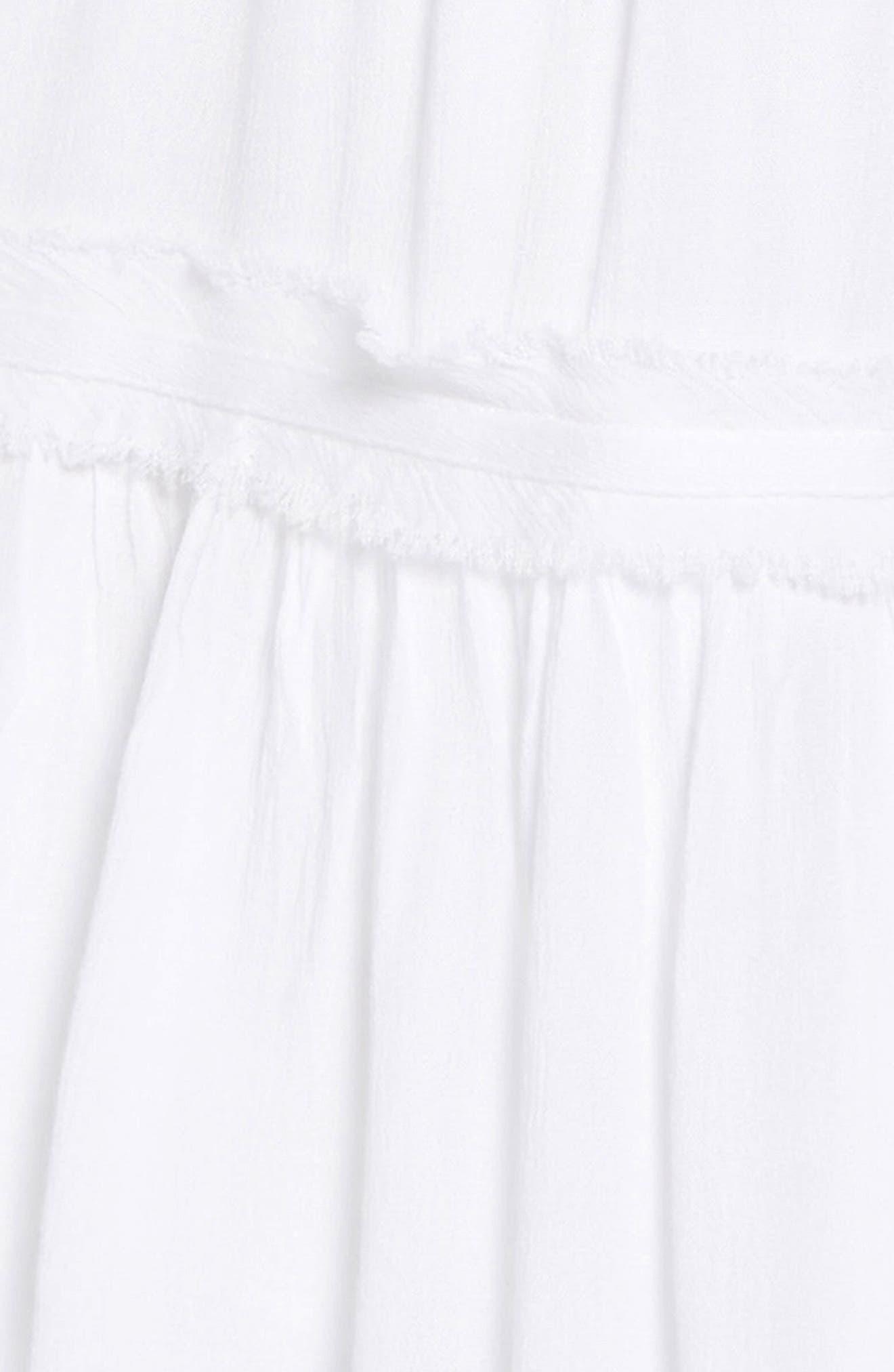 TUCKER + TATE, Gauzy Tiered Sundress, Alternate thumbnail 3, color, WHITE