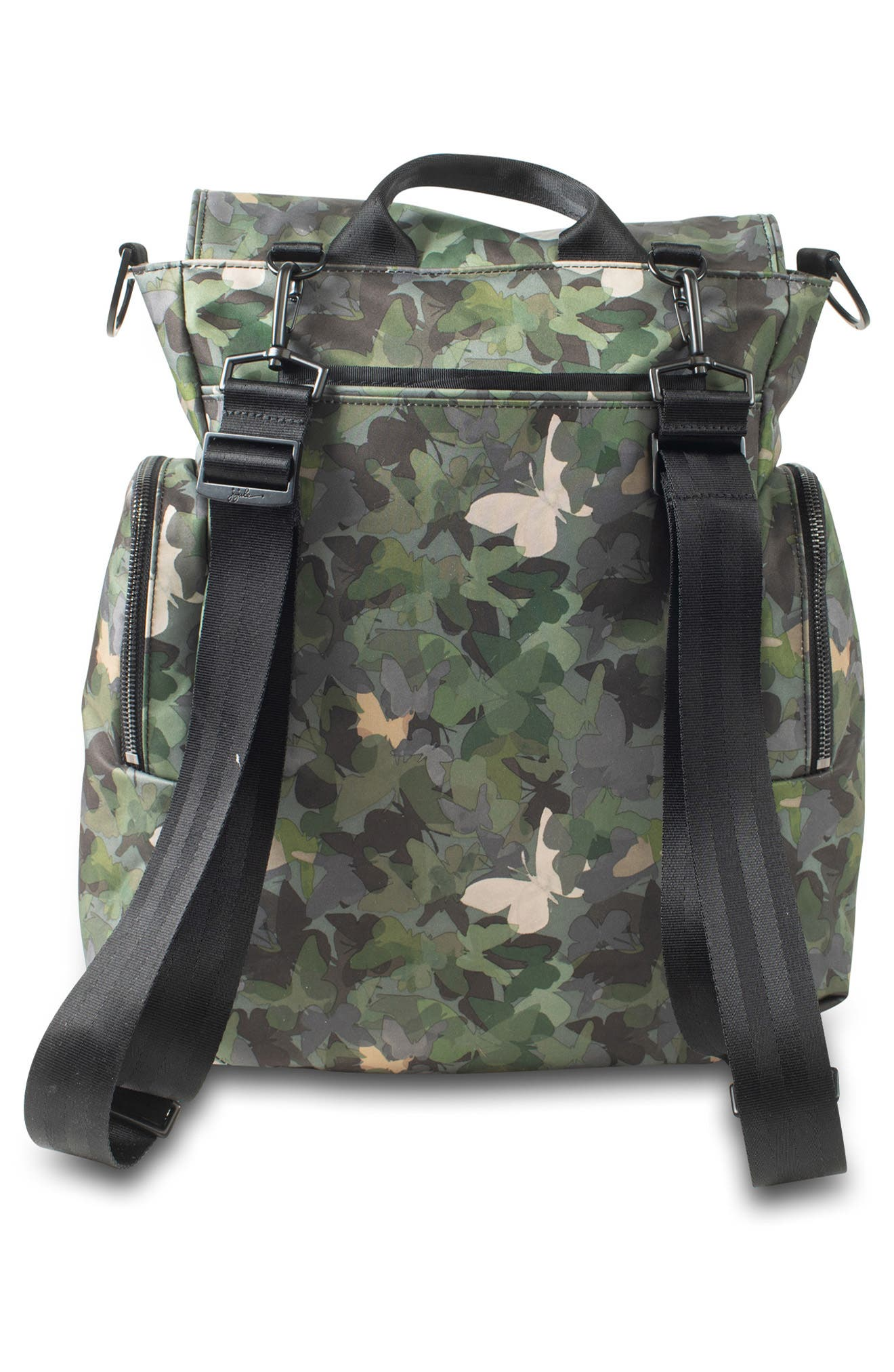 JU-JU-BE, Onyx Be Sporty Diaper Backpack, Alternate thumbnail 2, color, BUTTERFLY FOREST