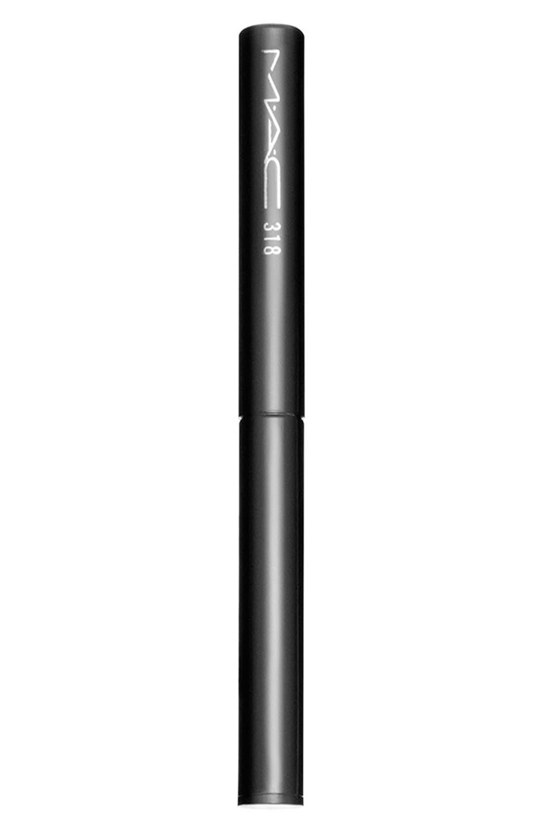 MAC COSMETICS, MAC 318 Retractable Lip Brush, Alternate thumbnail 3, color, NO COLOR