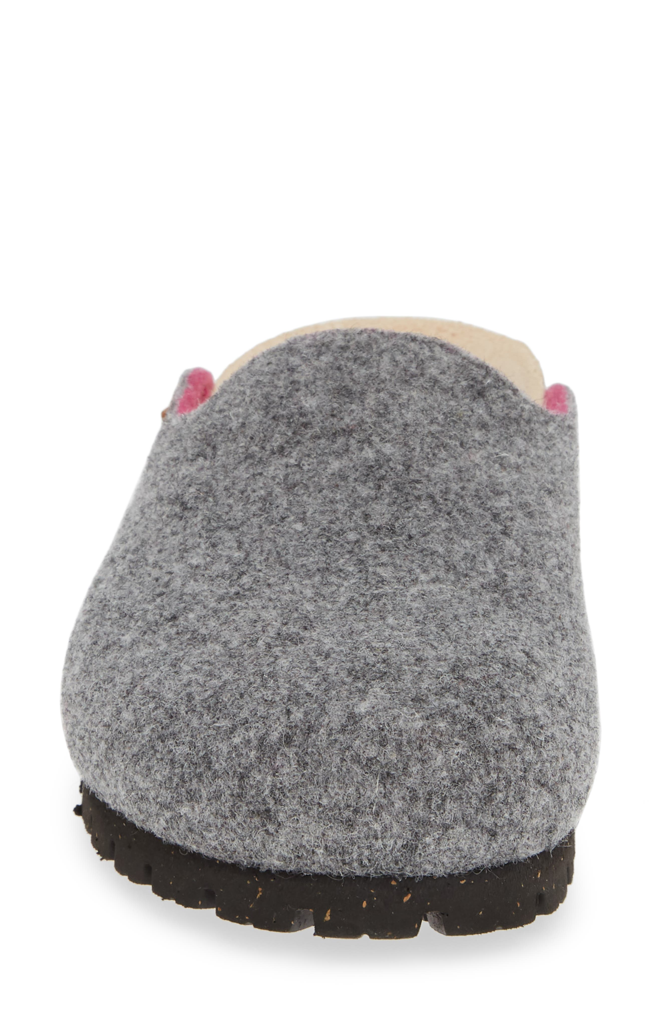 MEPHISTO, Thea Boiled Wool Clog, Alternate thumbnail 4, color, GREY FABRIC