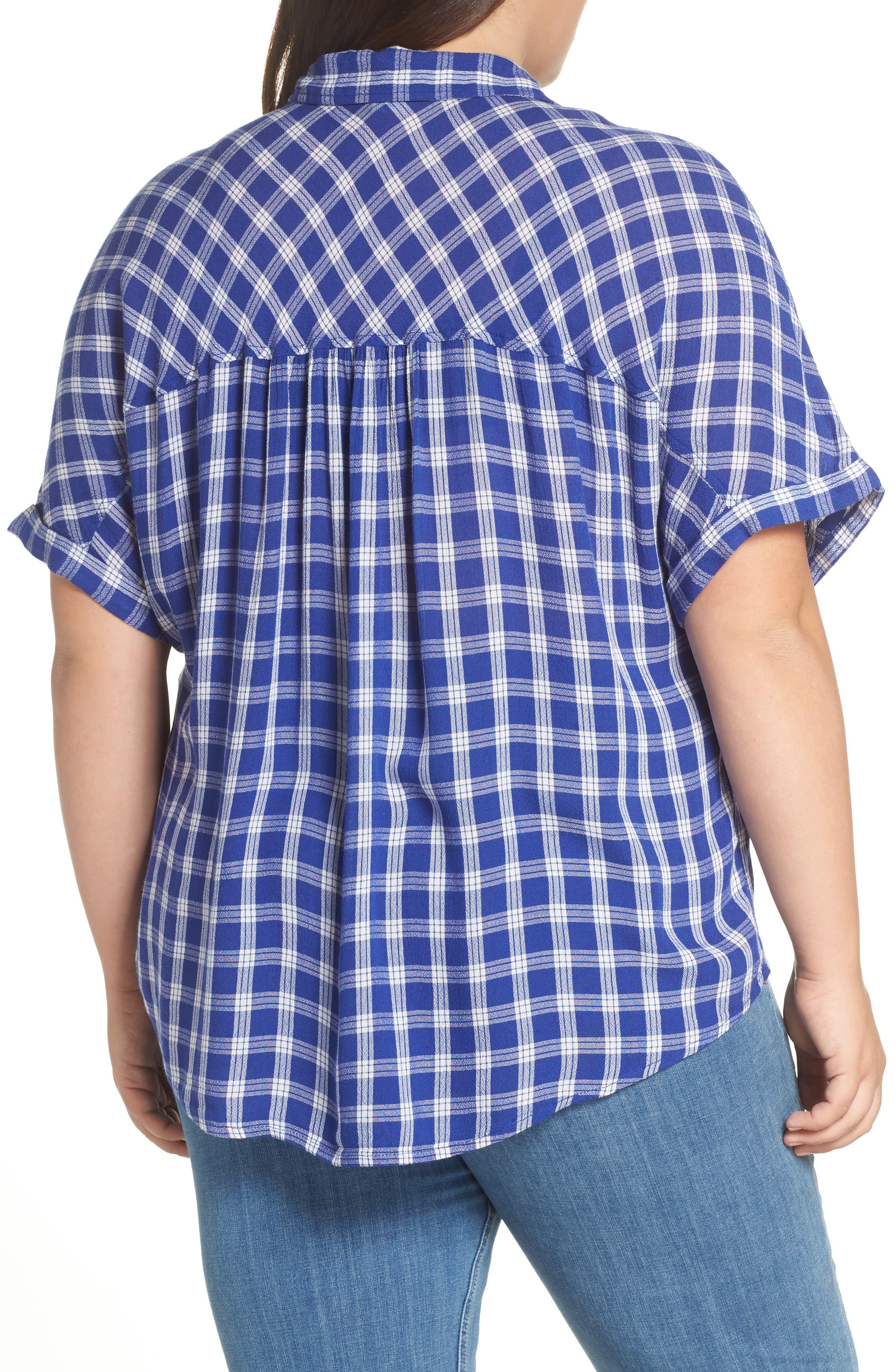 BP., Plaid Dolman Sleeve Shirt, Alternate thumbnail 8, color, 420