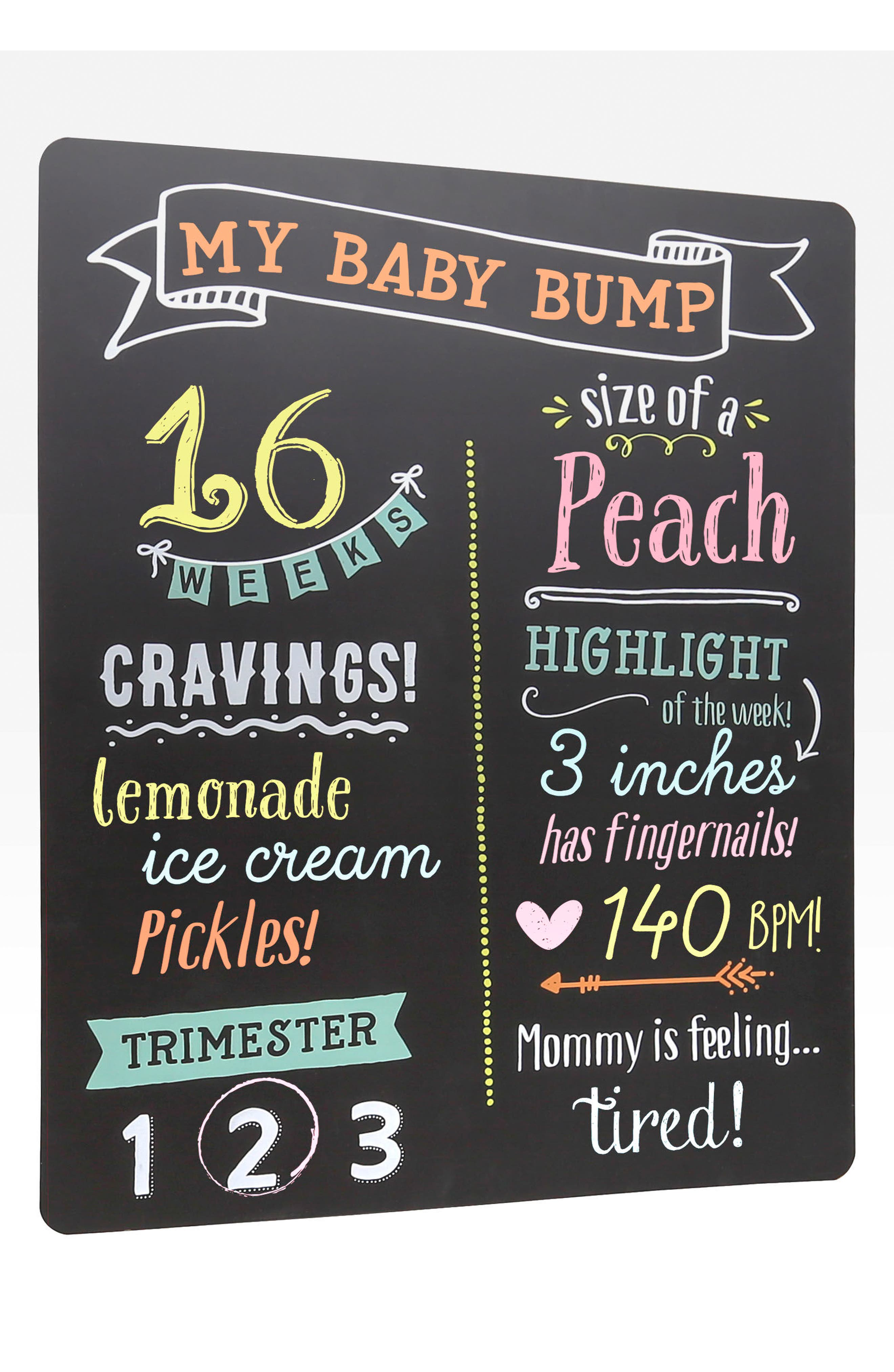 PEARHEAD, Pregnancy Chalkboard, Alternate thumbnail 3, color, BLACK