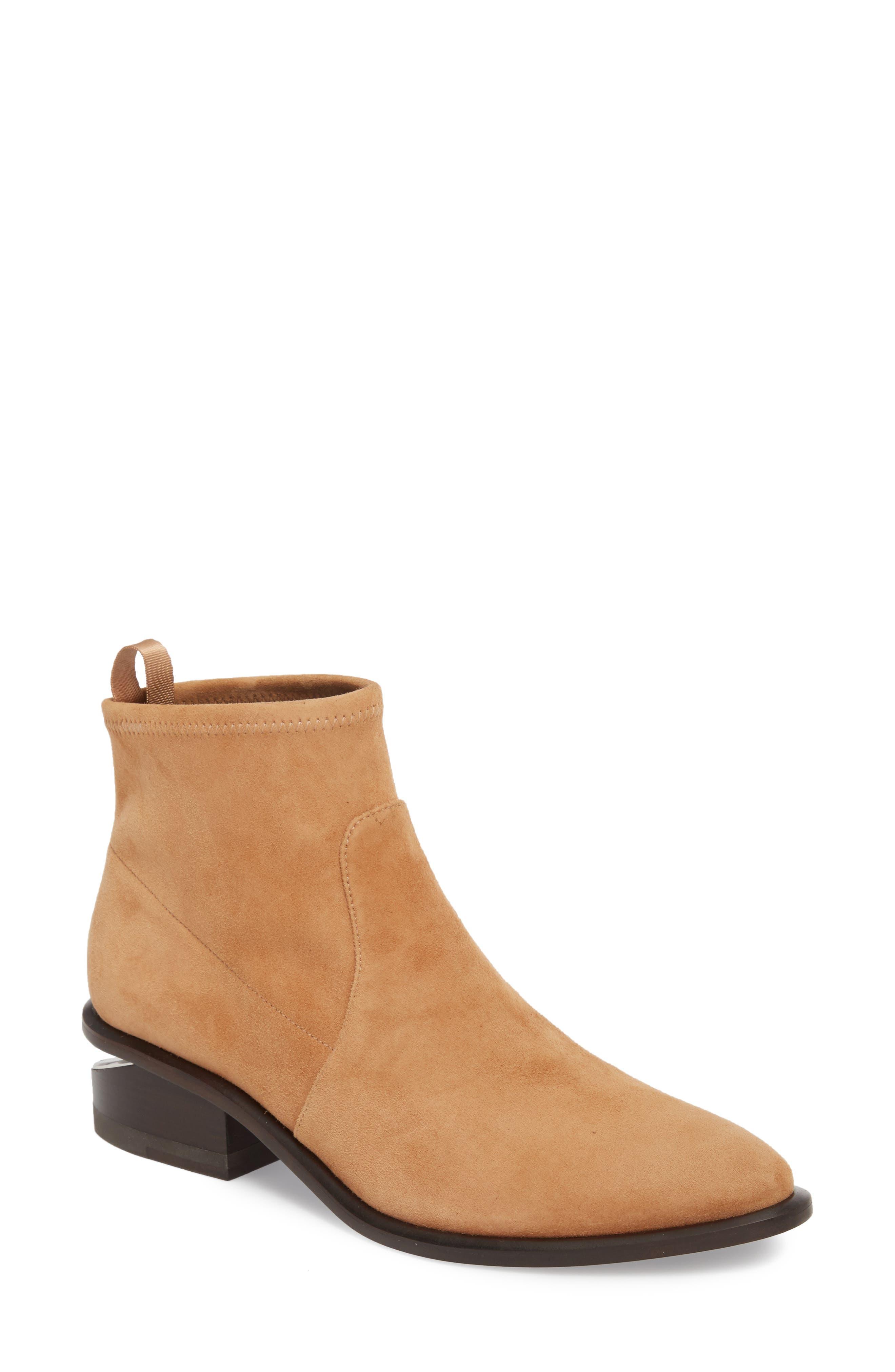 ALEXANDER WANG Kori Block Heel Bootie, Main, color, CLAY