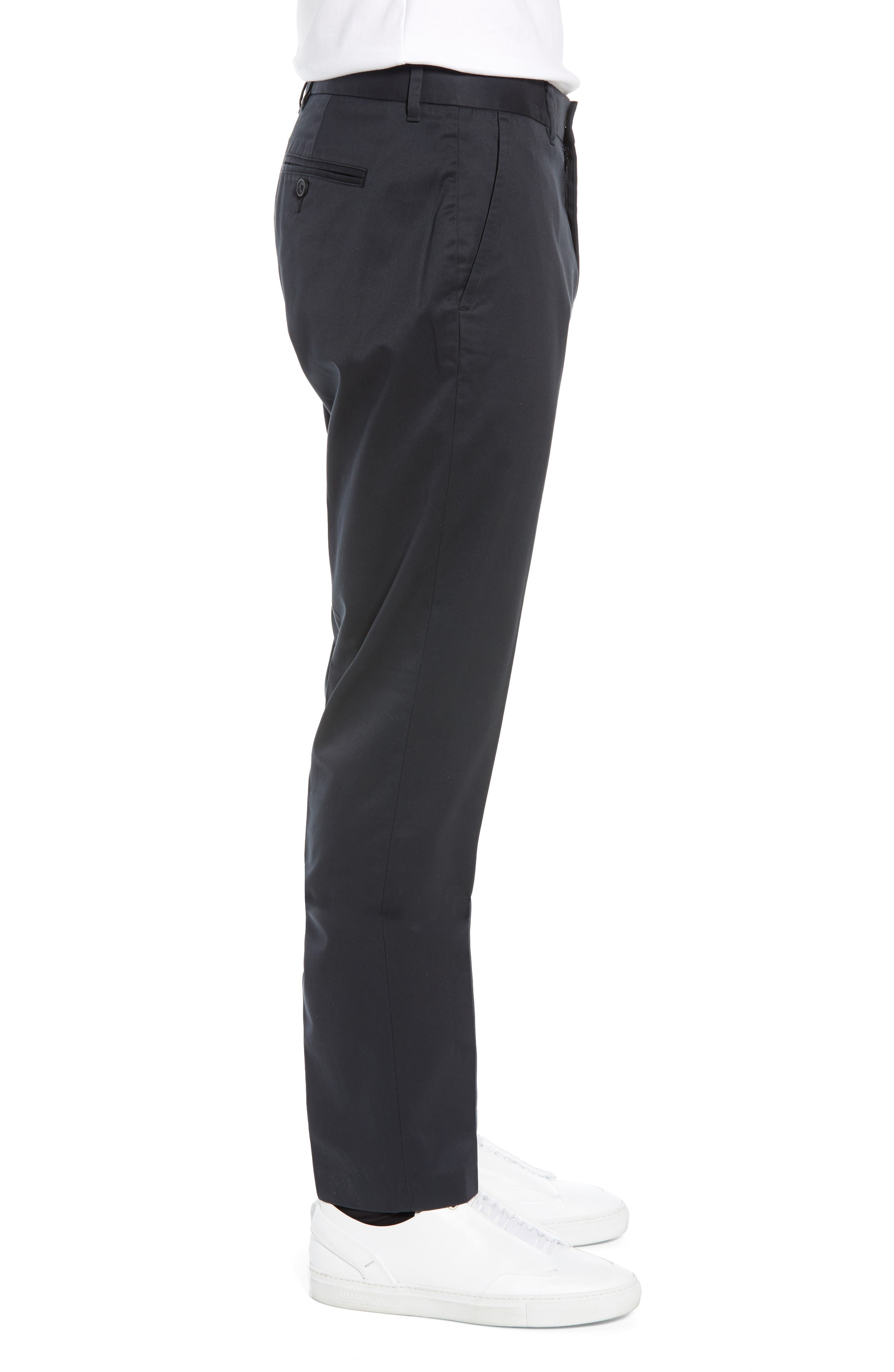 BONOBOS, Weekday Warrior Athletic Fit Stretch Dress Pants, Alternate thumbnail 3, color, TUESDAY BLACK