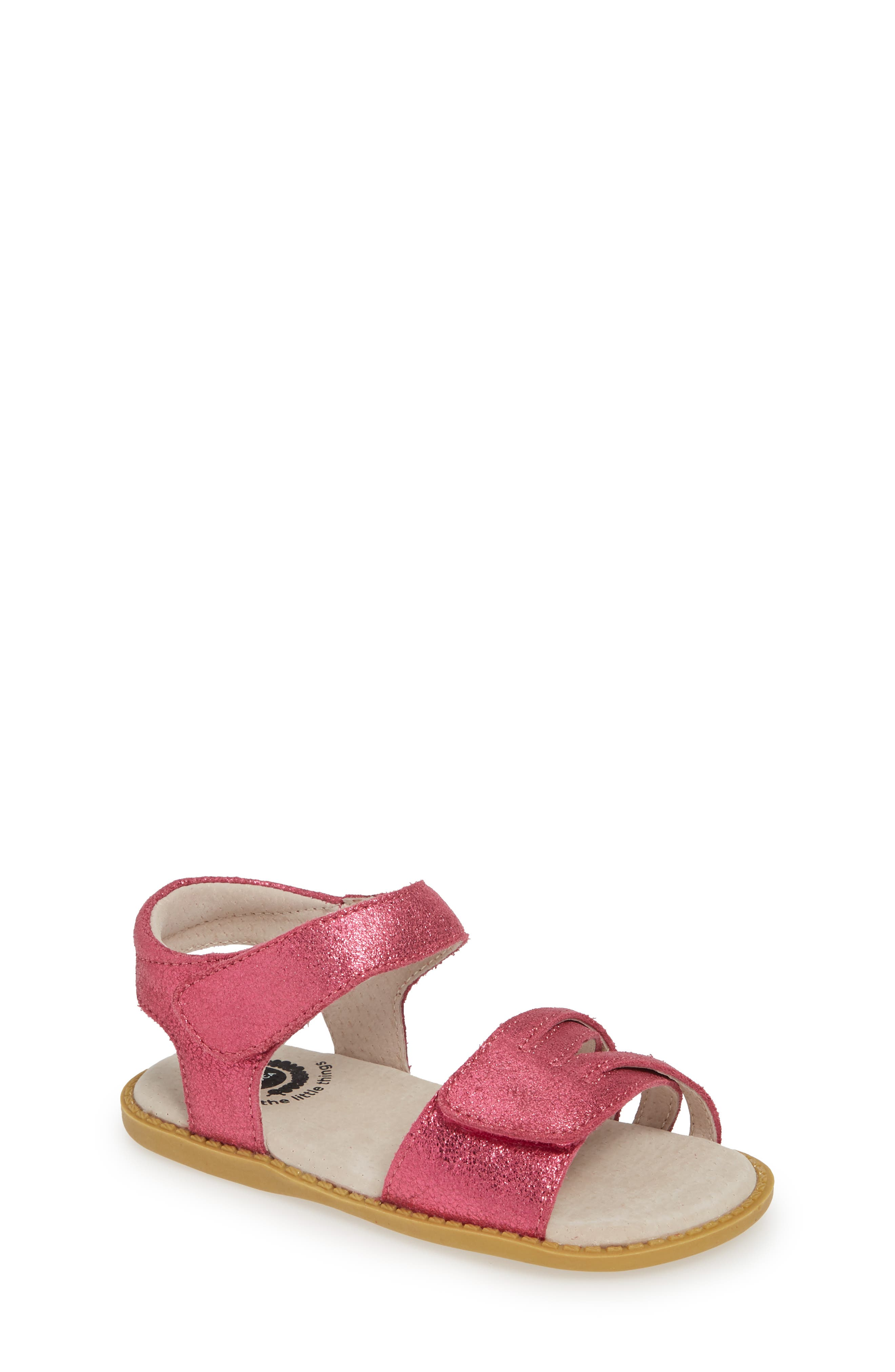 LIVIE & LUCA, 'Athena' Sandal, Main thumbnail 1, color, MAGENTA SHIMMER