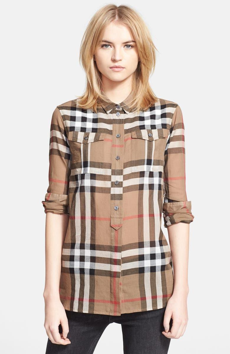 c101d80d6f6 BURBERRY BRIT Woven Check Tunic Shirt, Main, color, 251