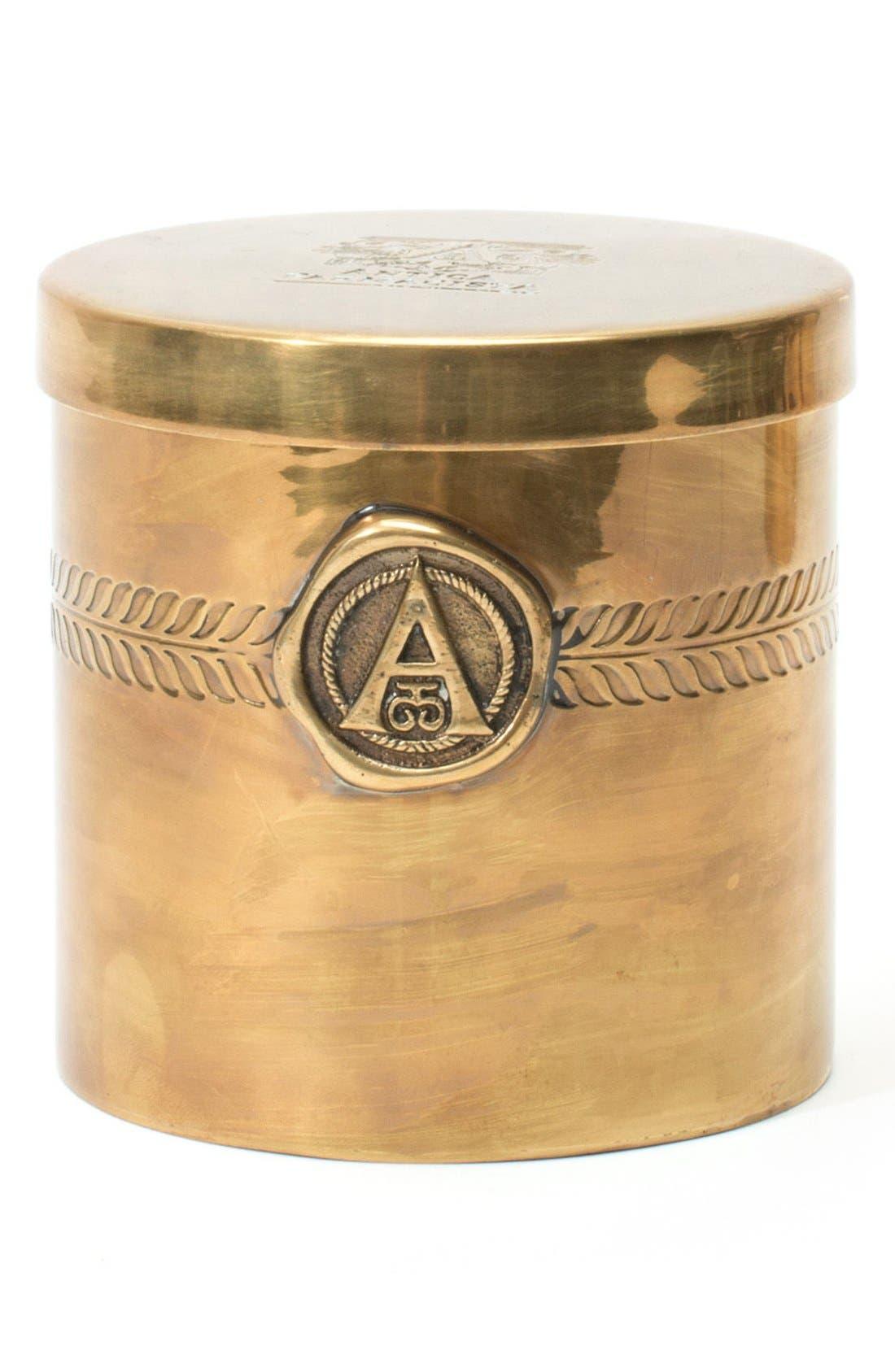 ANTICA FARMACISTA, Champagne Black Label Three-Wick Brass Candle, Alternate thumbnail 2, color, 000