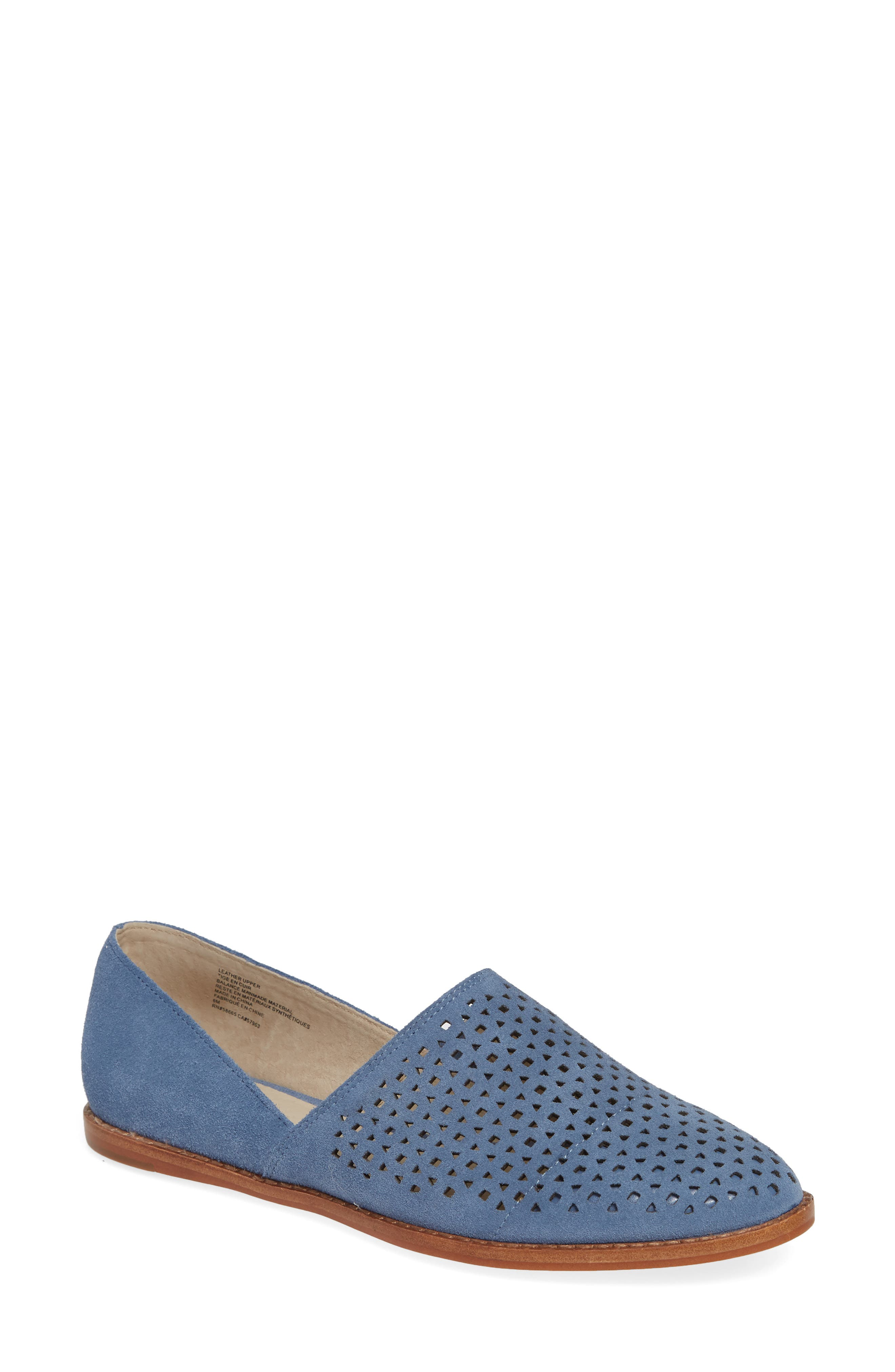 Caslon Adrian Perforated Flat, Blue