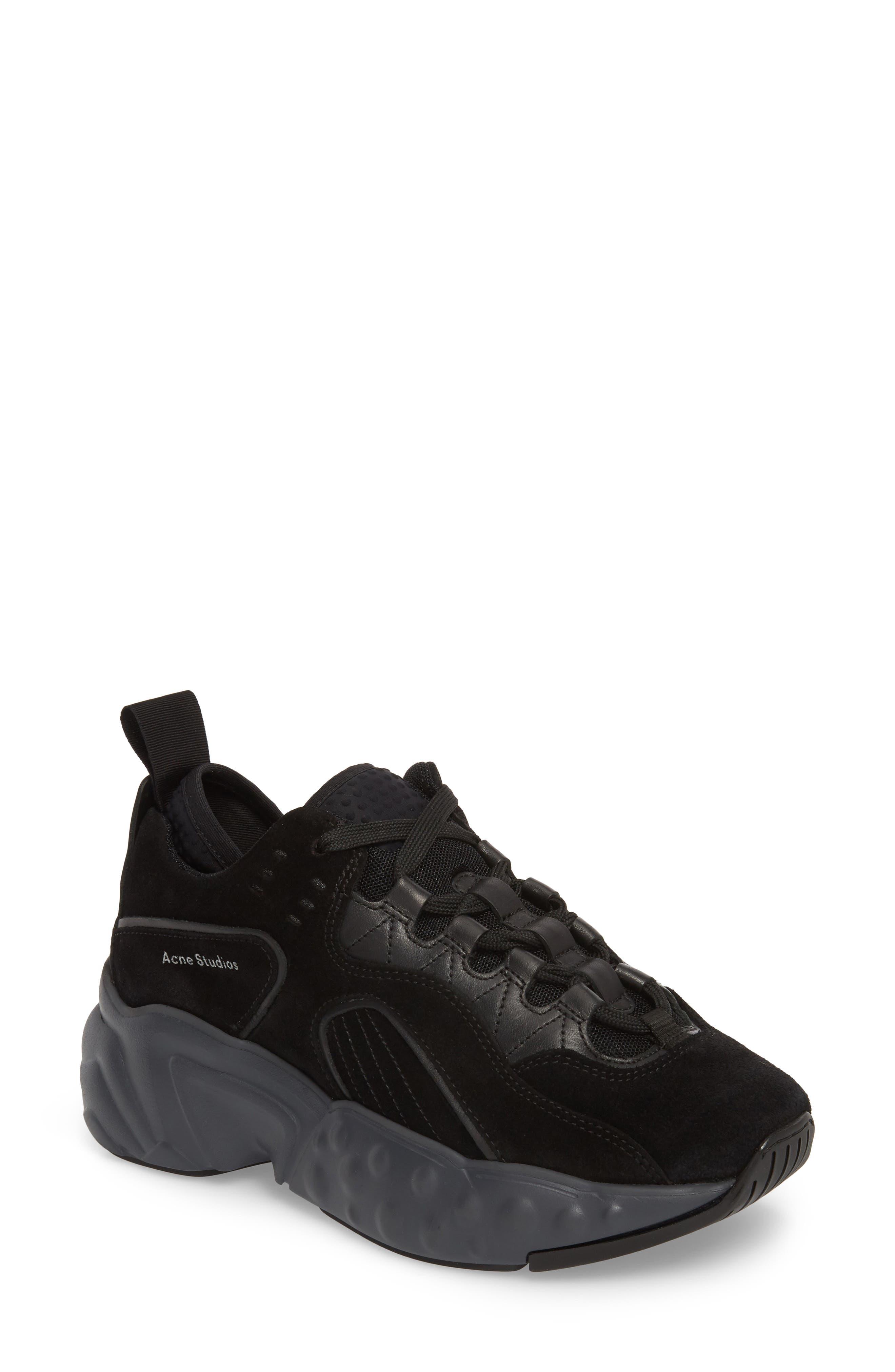 ACNE STUDIOS, Manhattan Sneaker, Main thumbnail 1, color, MULTI BLACK