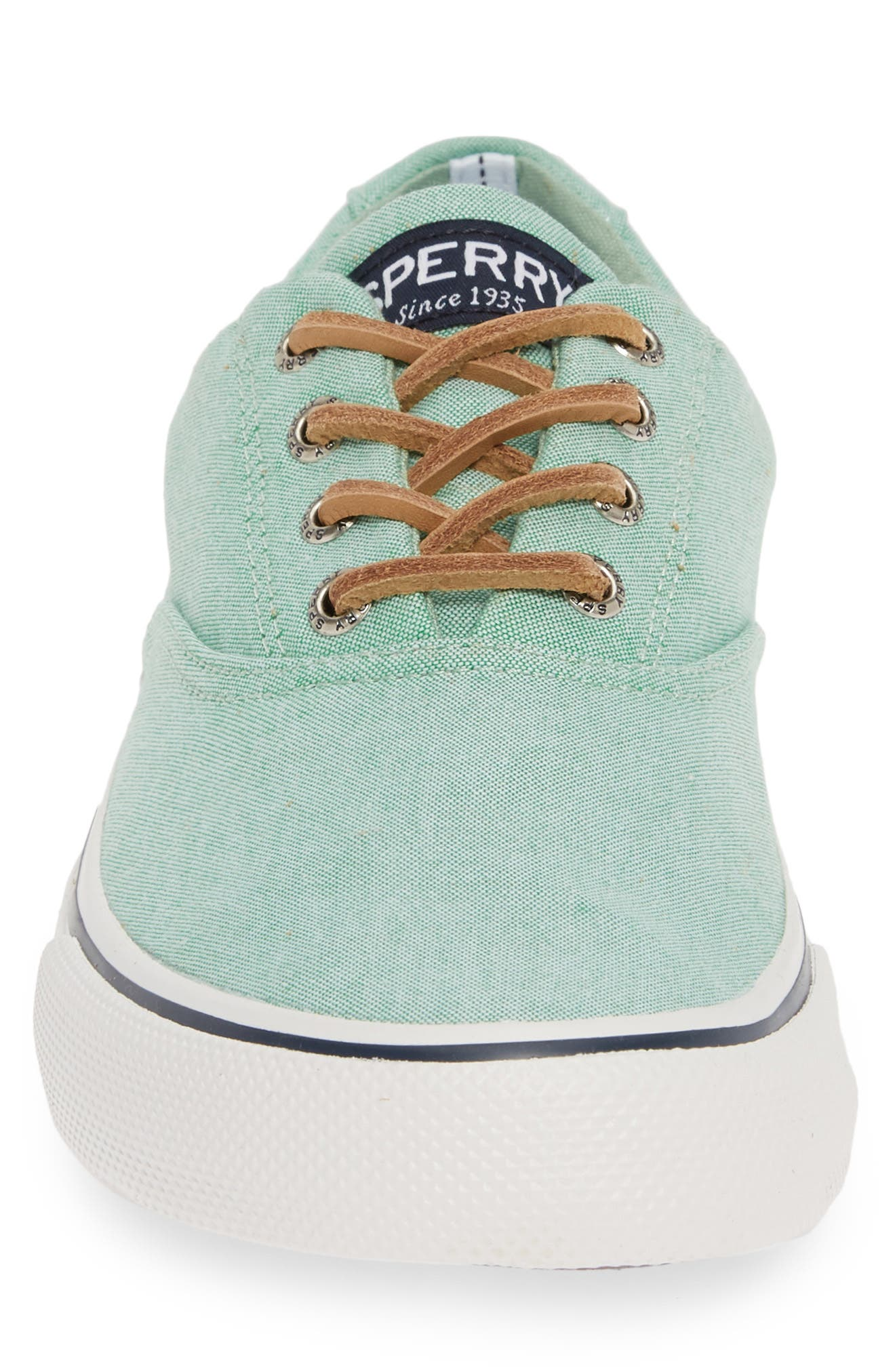 SPERRY, Striper II CVO Oxford Sneaker, Alternate thumbnail 4, color, GREEN