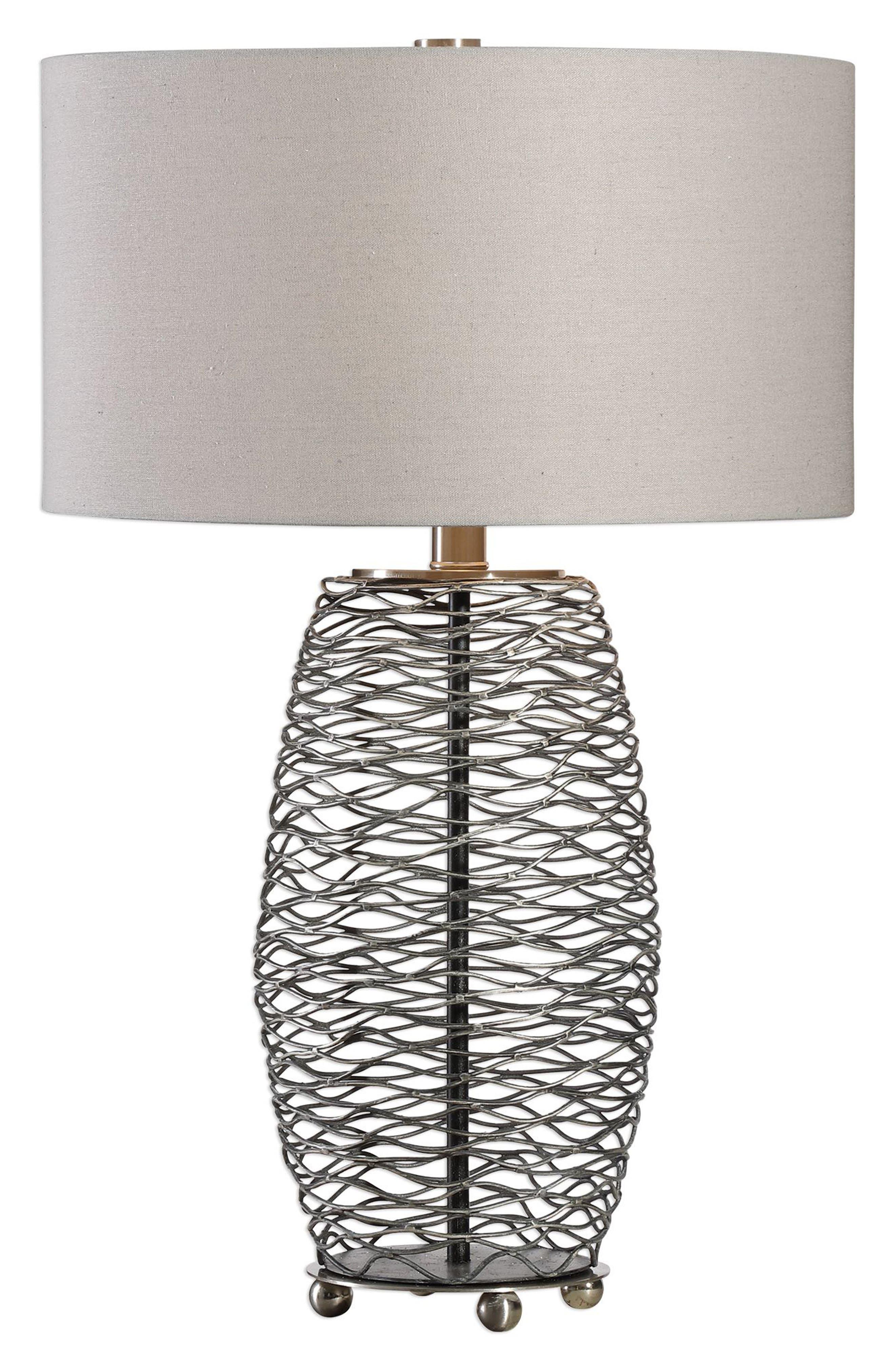 Uttermost Sinuous Wavy Steel Mesh Lamp Size One Size  Metallic