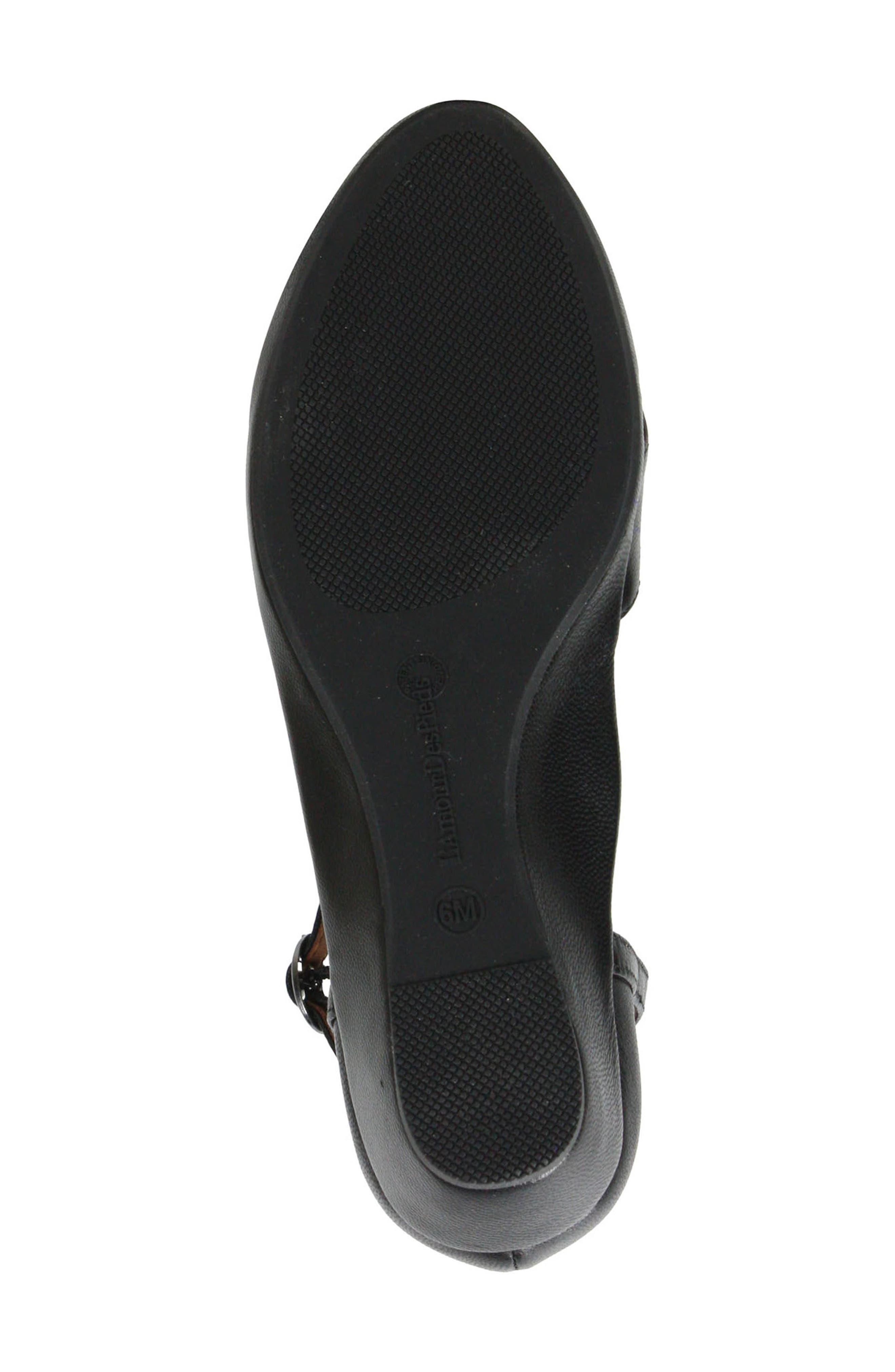 L'AMOUR DES PIEDS, Betterton Sandal, Alternate thumbnail 6, color, BLACK LEATHER