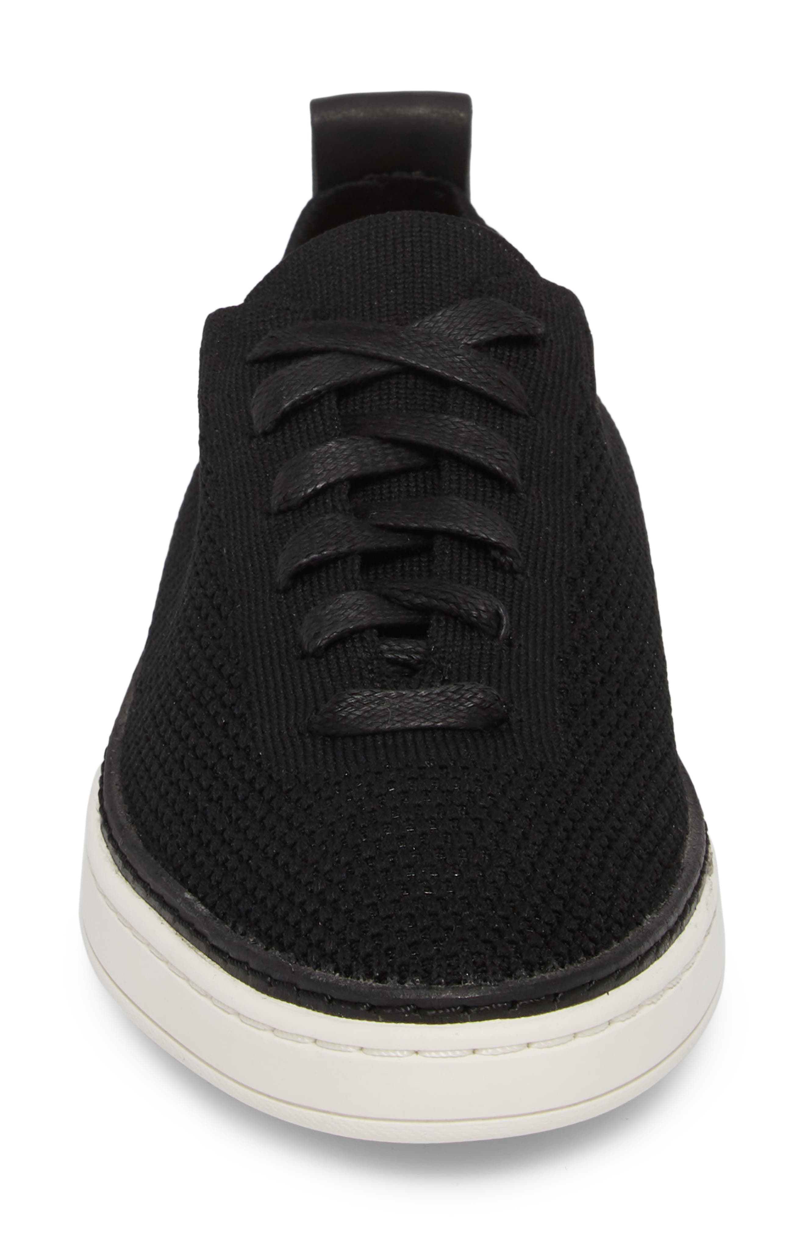 UGG<SUP>®</SUP>, Sidney Sneaker, Alternate thumbnail 4, color, BLACK FABRIC