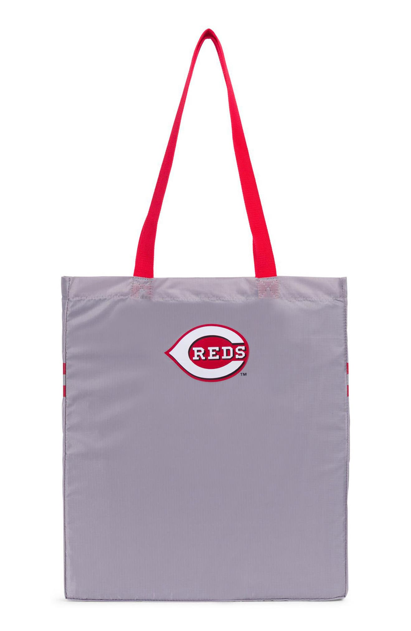 HERSCHEL SUPPLY CO., Packable - MLB National League Tote Bag, Alternate thumbnail 2, color, CINCINNATI REDS