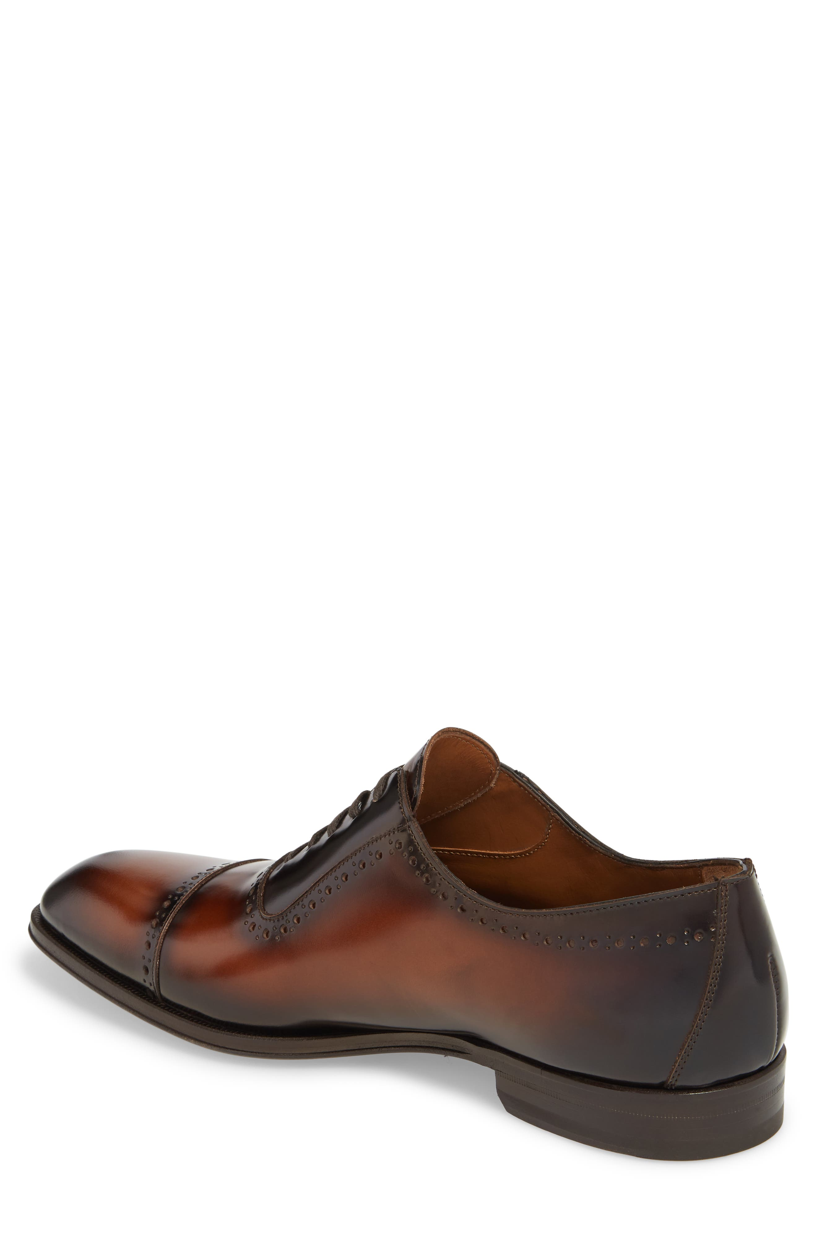 BRUNO MAGLI, Lucca Cap Toe Oxford, Alternate thumbnail 2, color, COGNAC