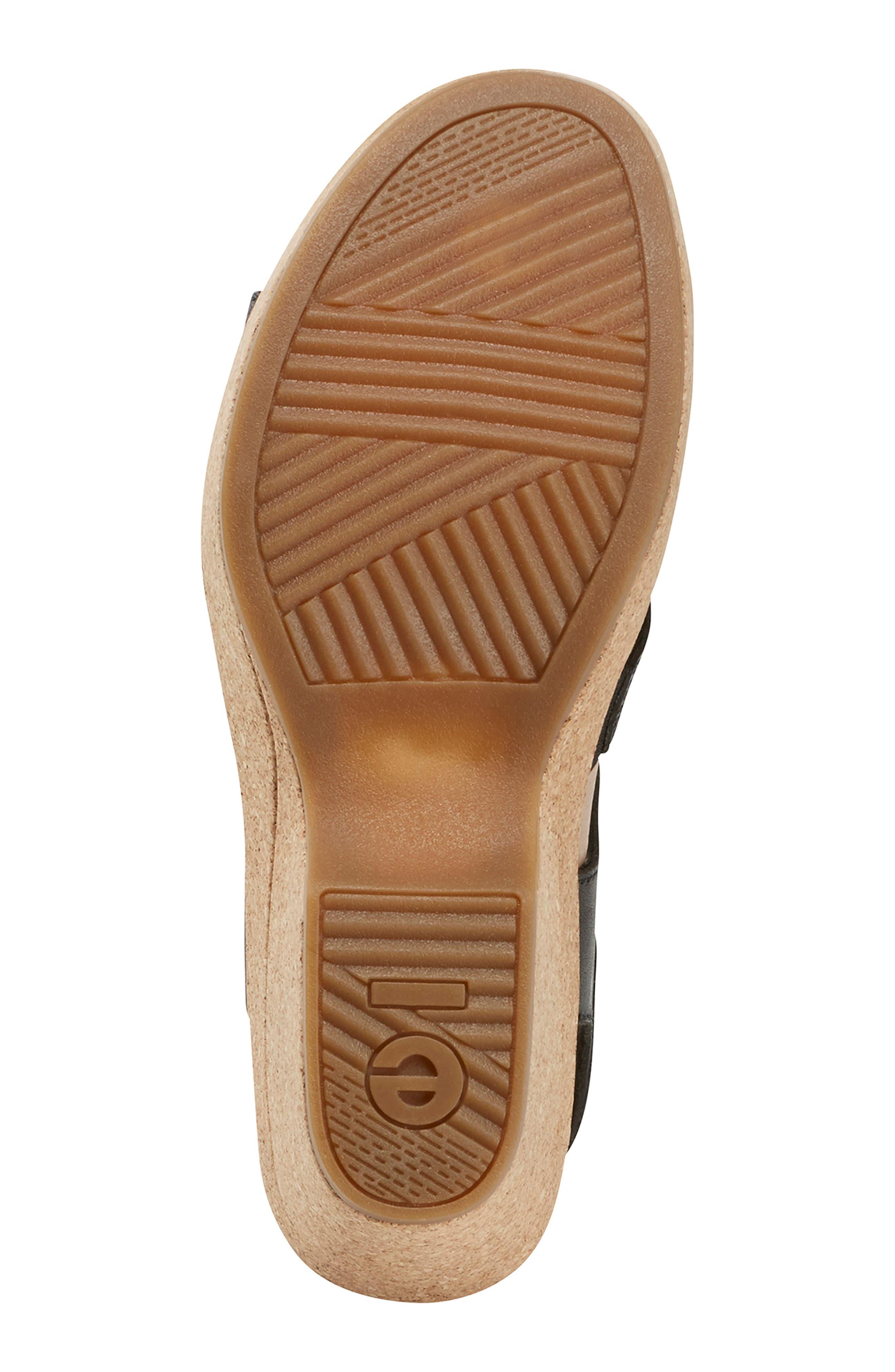 EARTH<SUP>®</SUP>, Kella Platform Sandal, Alternate thumbnail 6, color, BLACK LEATHER